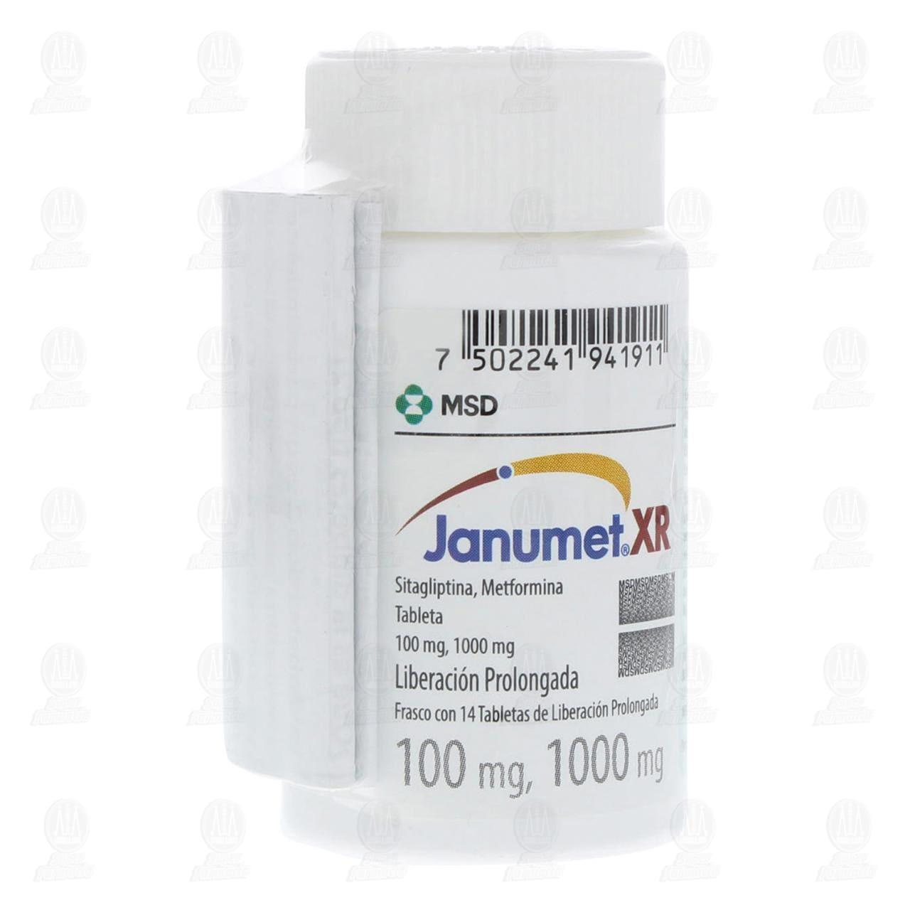 Comprar Janumet XR 100/1000mg 14 Tabletas Liberación Prolongada en Farmacias Guadalajara