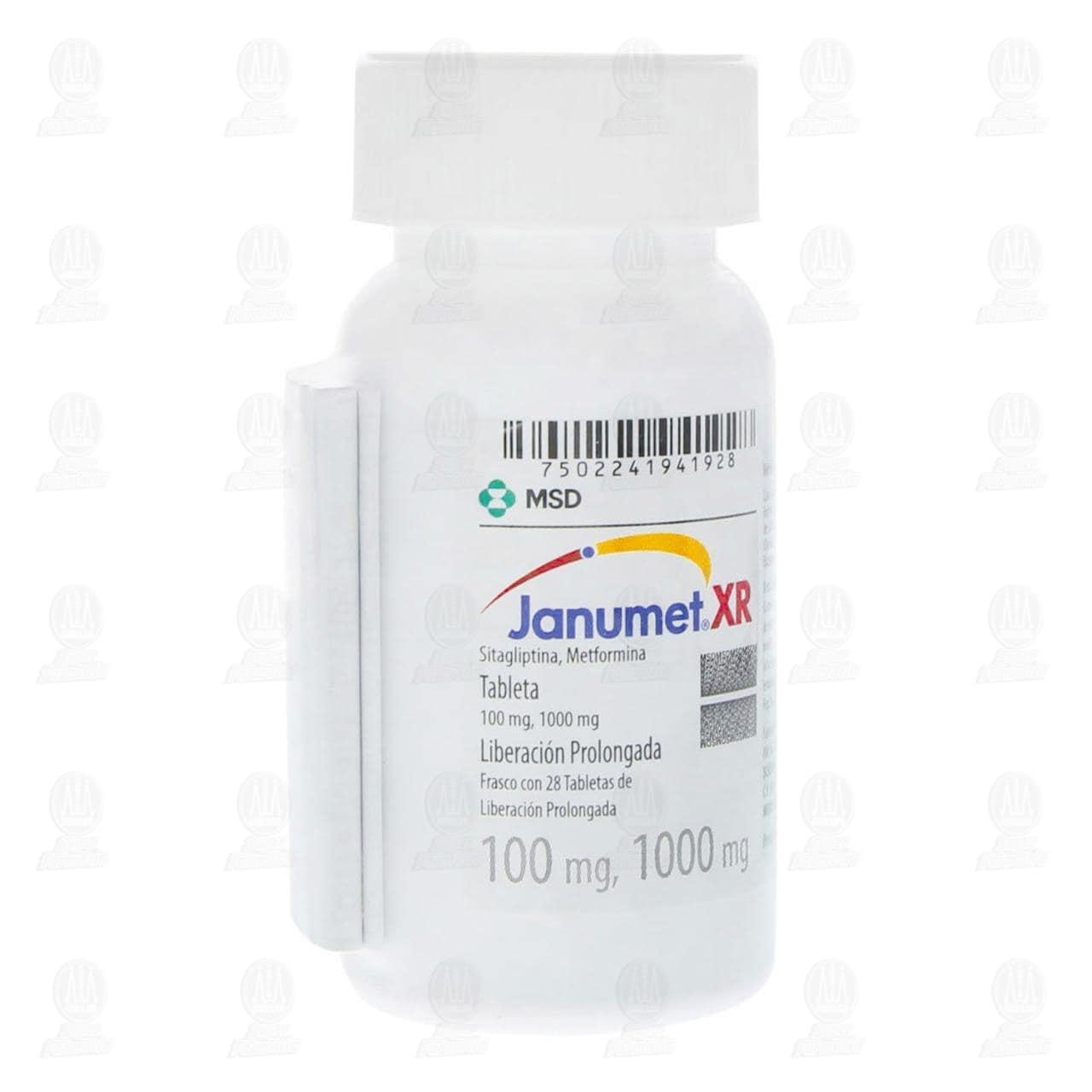 Janumet XR 100/1000mg 28 Tabletas Liberación Prolongada