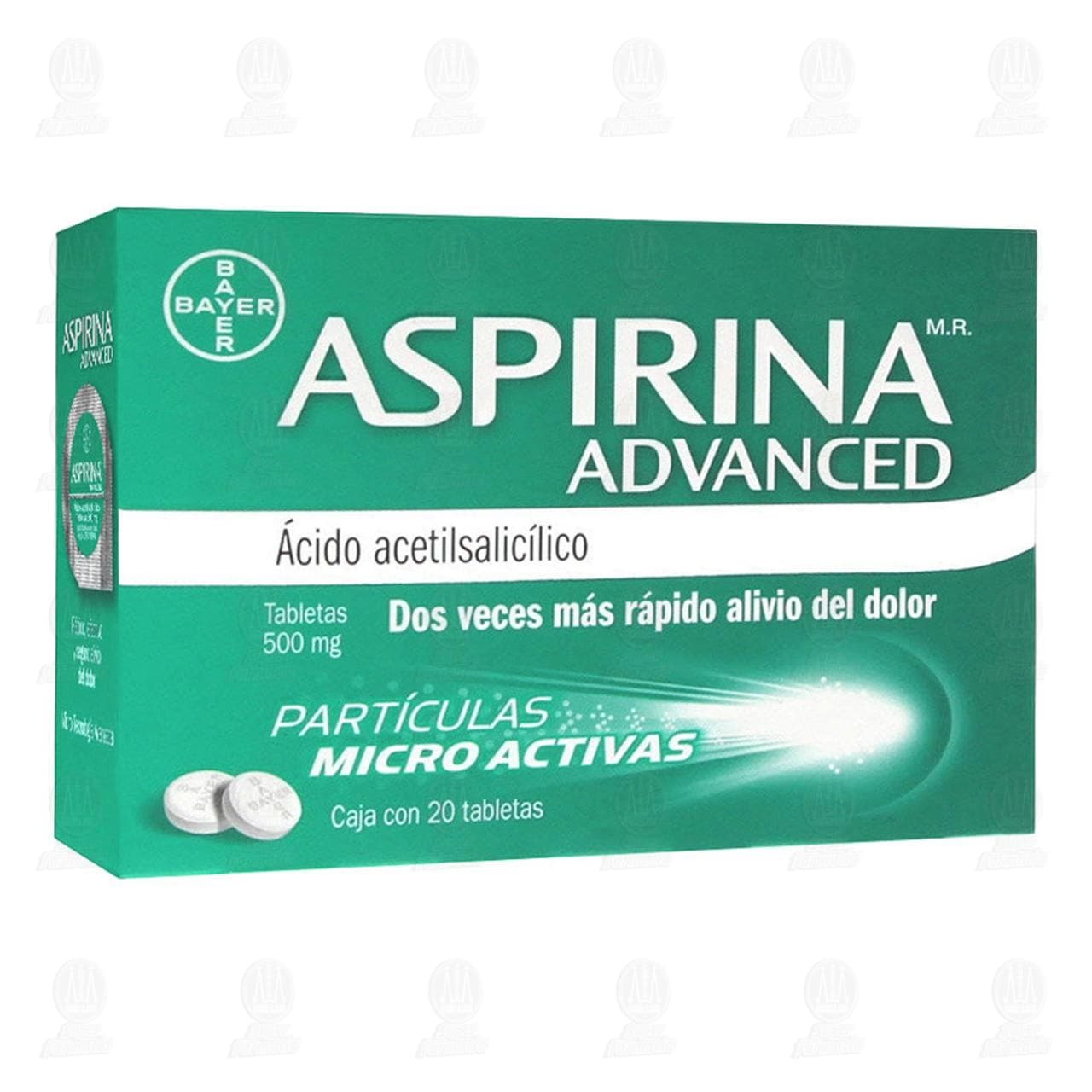 Comprar Aspirina Advanced 500mg 20 Tabletas en Farmacias Guadalajara