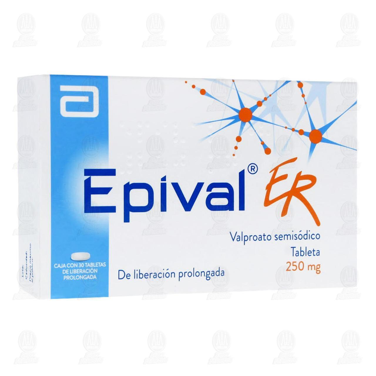 Comprar Epival ER 250mg 30 Tabletas en Farmacias Guadalajara