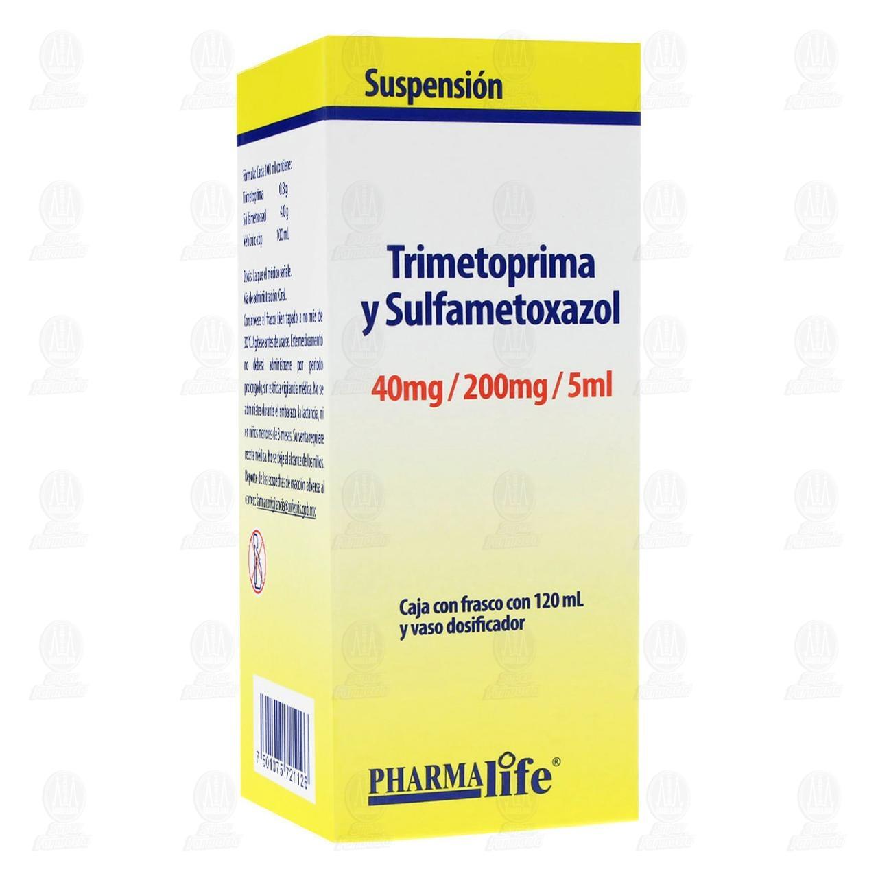 Comprar Trimetoprima / Sulfametoxazol 120ml Suspensión Pharmalife en Farmacias Guadalajara
