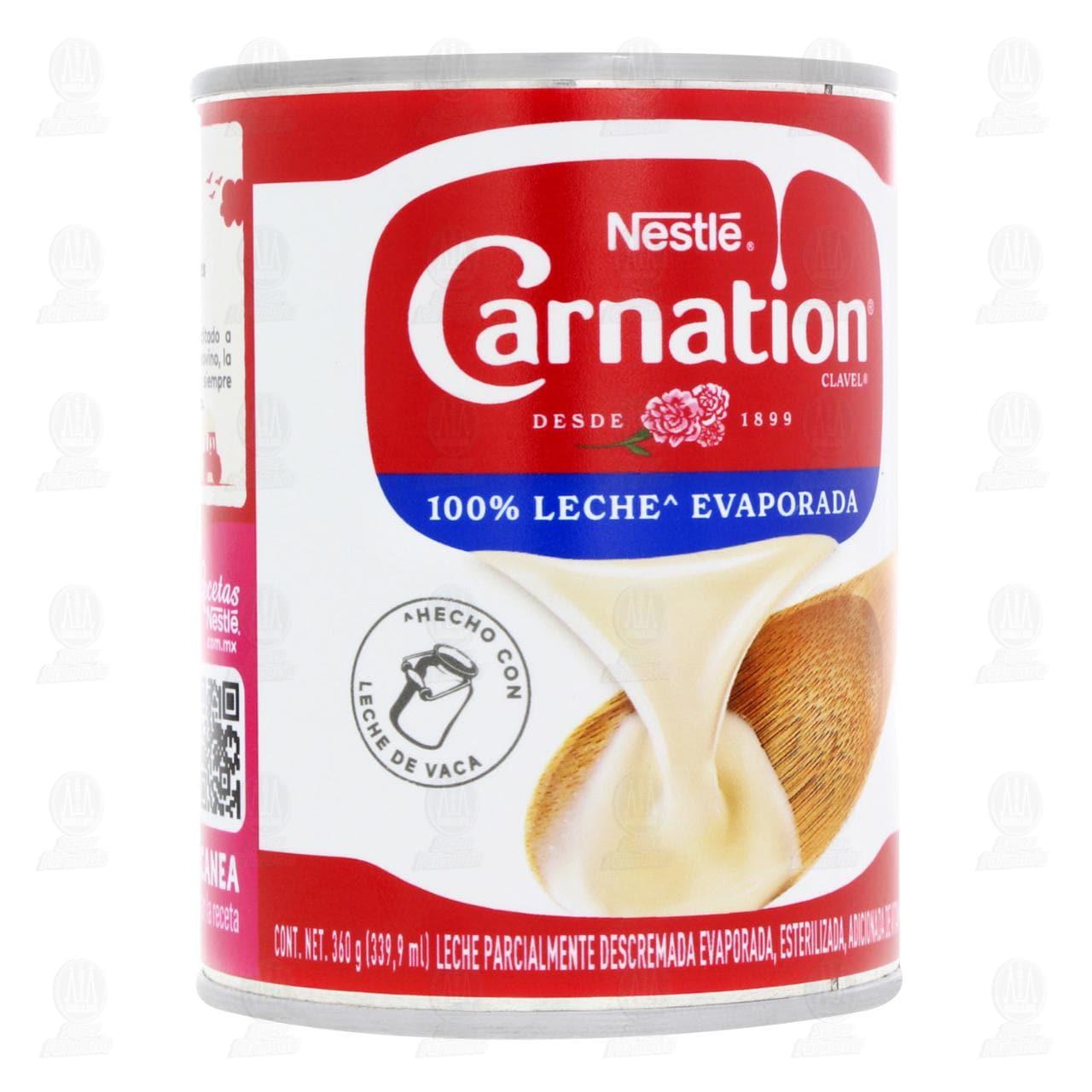 Leche Nestlé Carnation Clavel Evaporada, 360 gr.