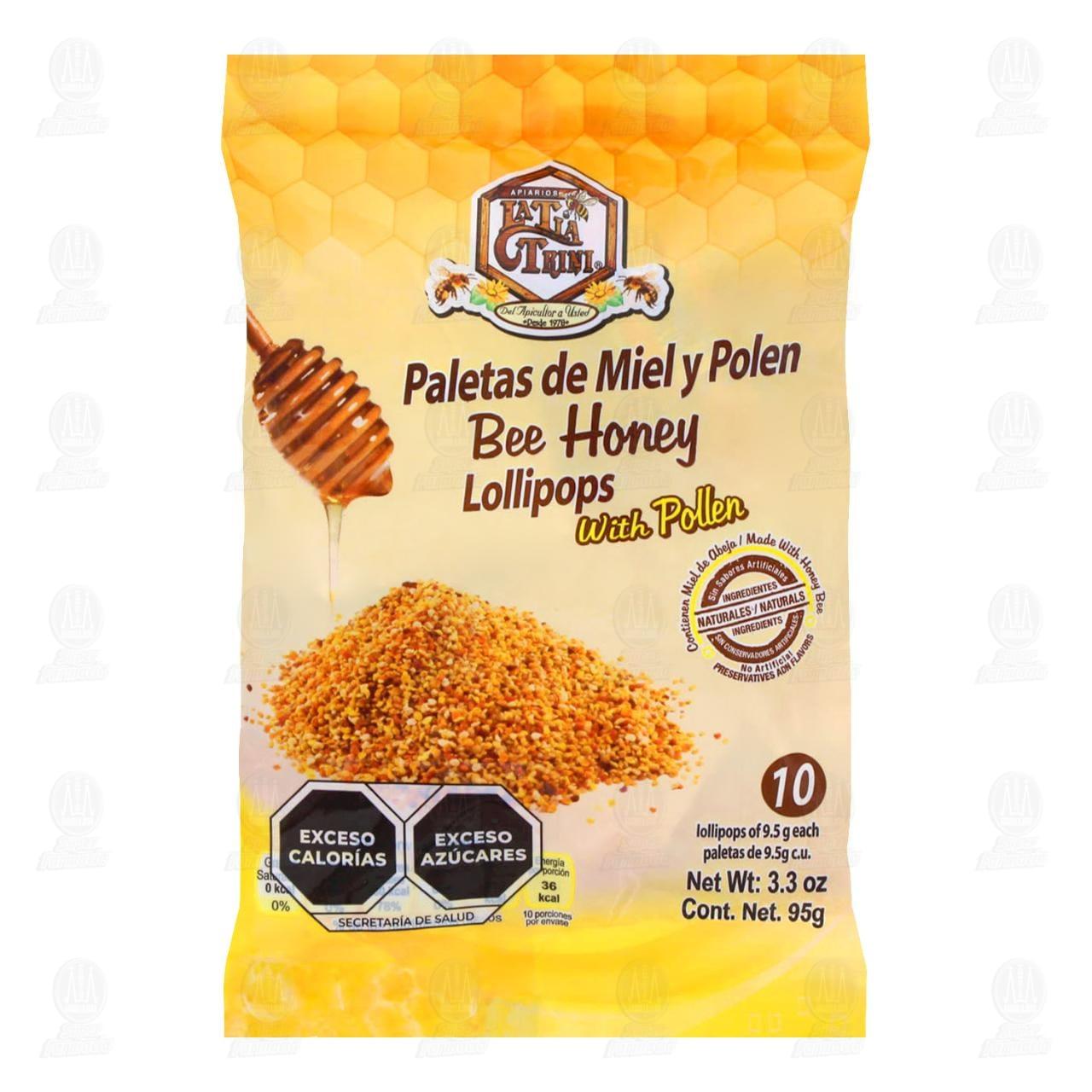 Comprar Tía Trini Miel Polen 10 Paletas en Farmacias Guadalajara