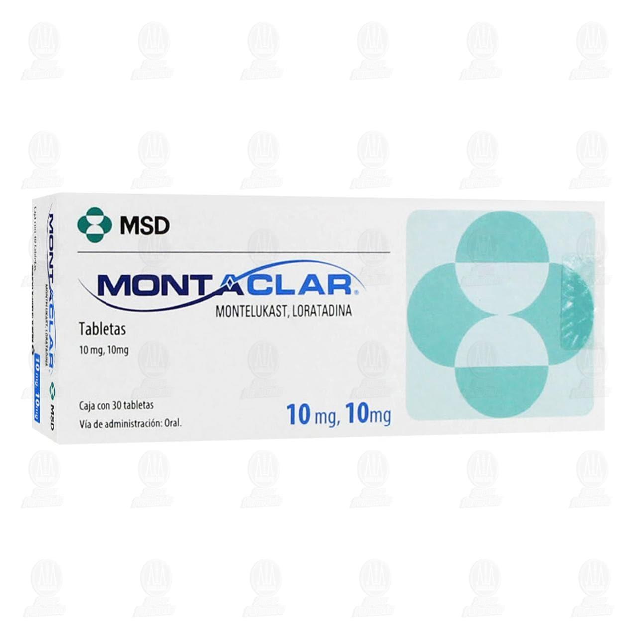 Comprar Montaclar 10mg/10mg 30 Tabletas en Farmacias Guadalajara