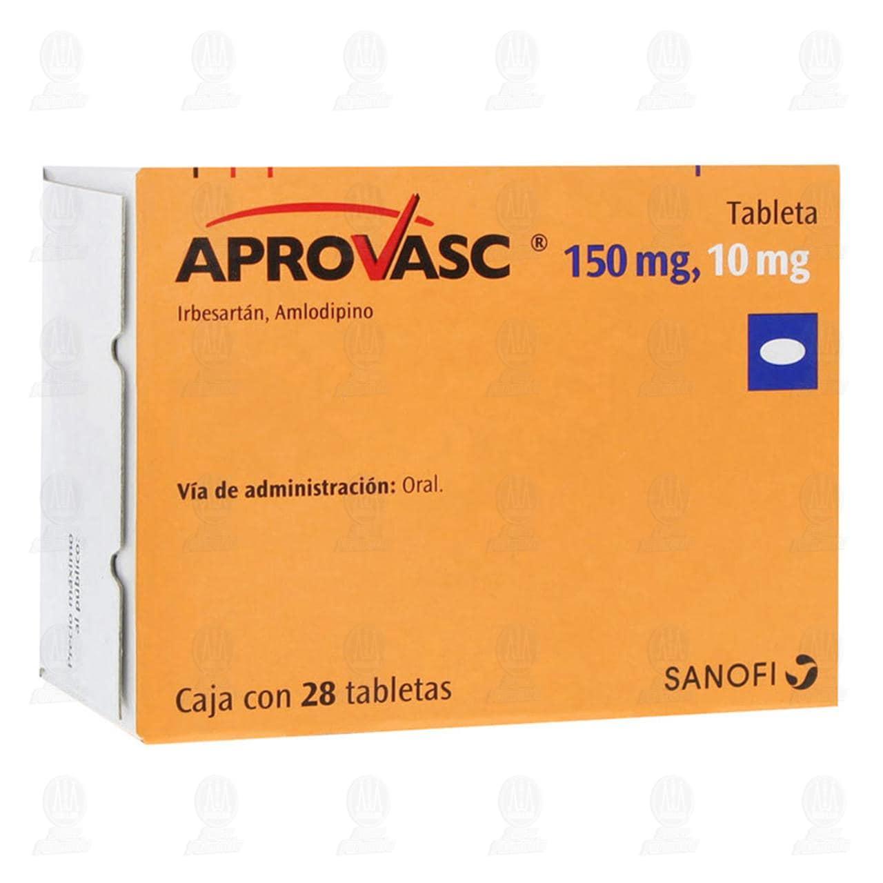 Comprar Aprovasc 150mg/10mg 28 Tabletas en Farmacias Guadalajara