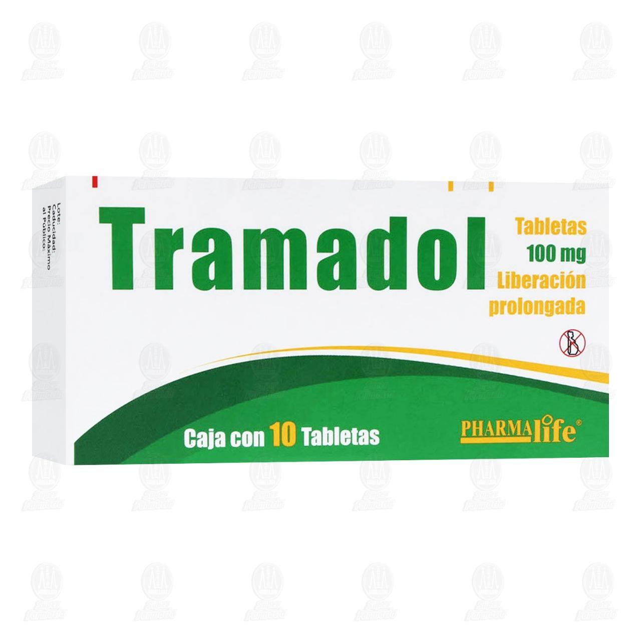 Comprar Tramadol 100mg 10 Tabletas Liberación Prolongada Pharmalife en Farmacias Guadalajara