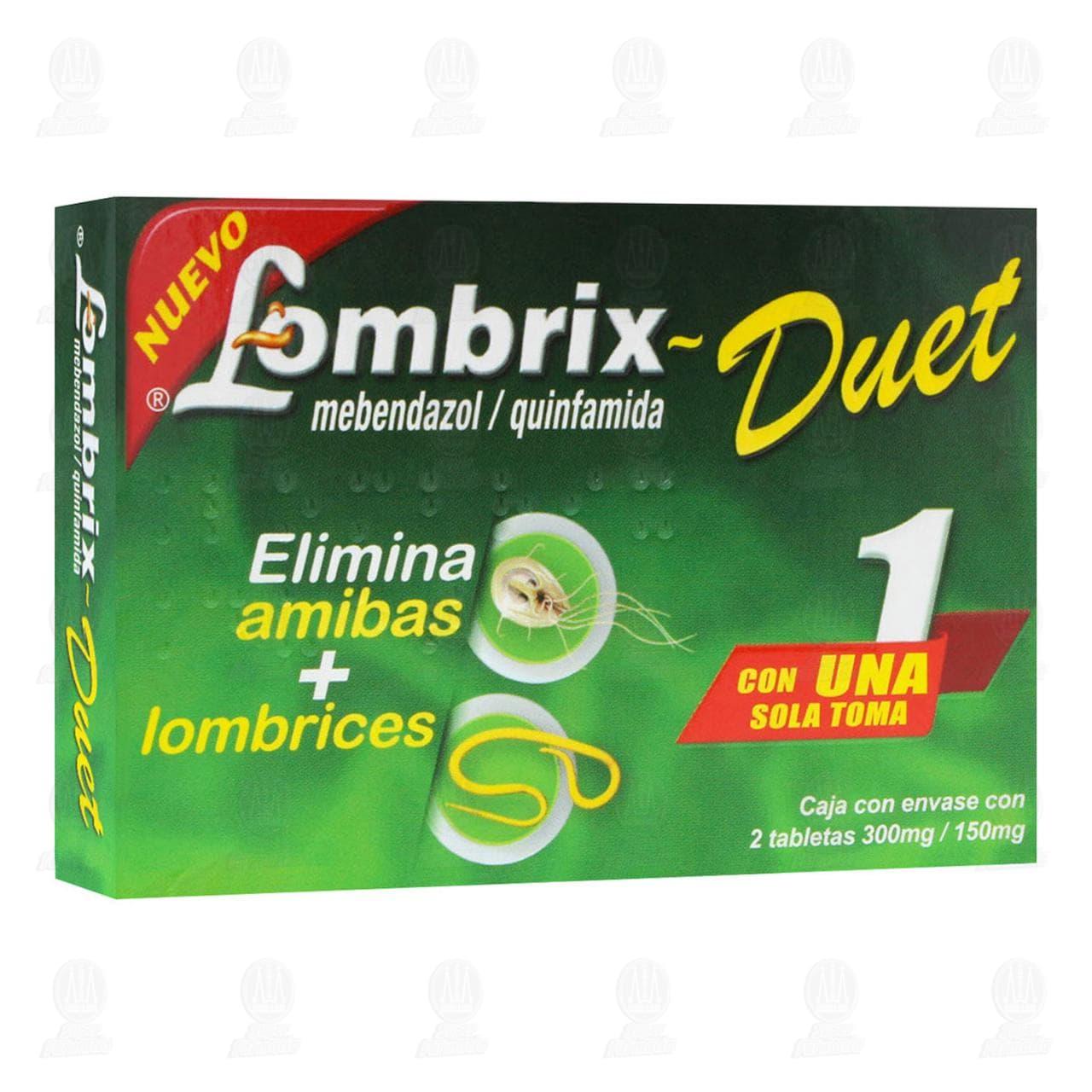 Lombrix Duet 300mg/150mg 2 Tabletas
