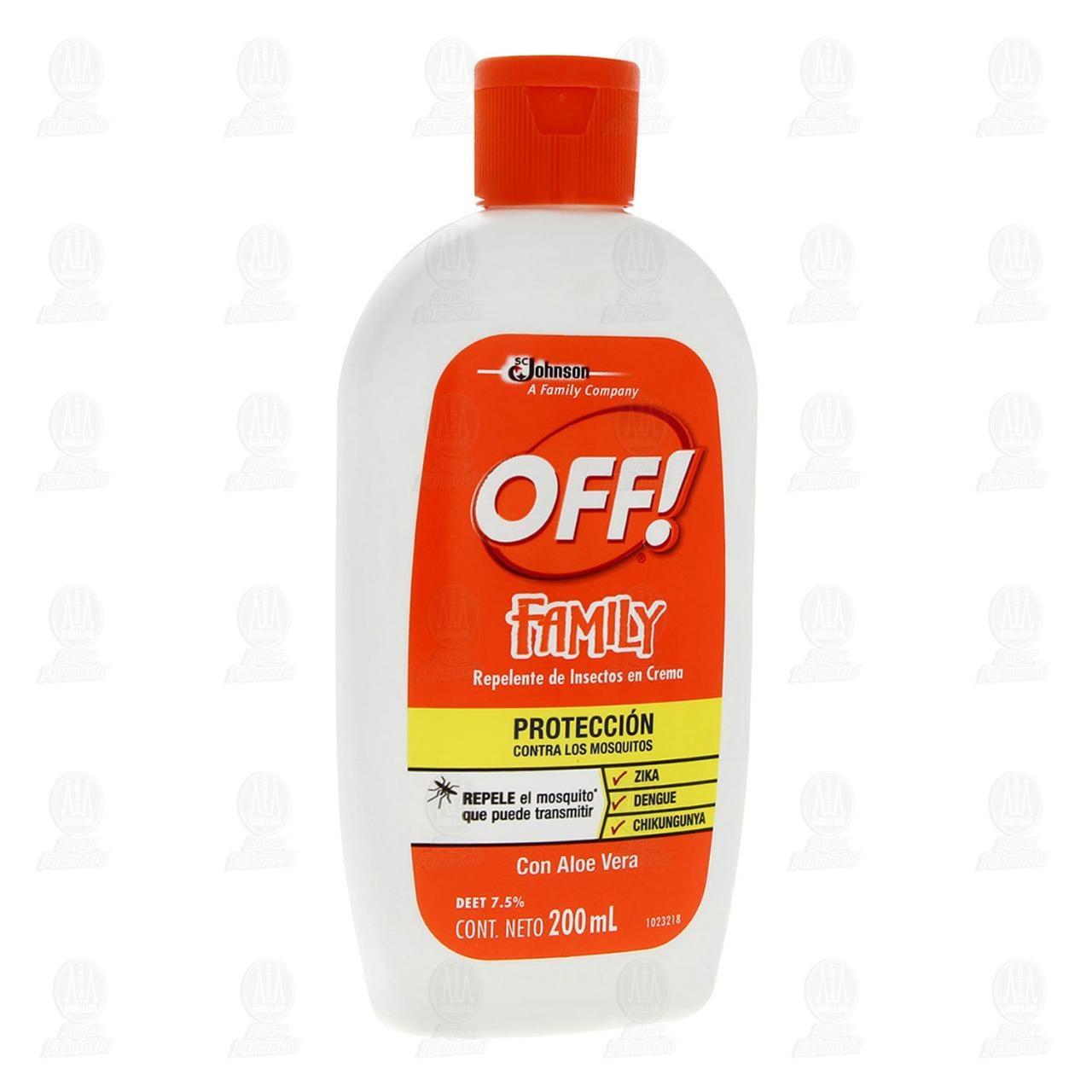 Repelente de Insectos Off! Family en Crema, 200 ml.
