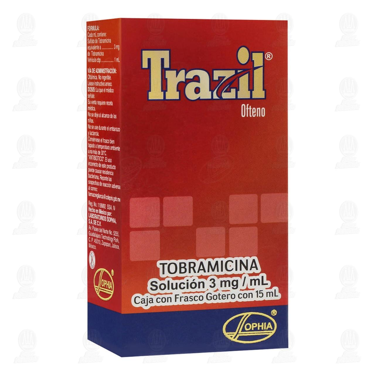 Comprar Trazil Ofteno 3mg/ml 15ml Solución Gotas en Farmacias Guadalajara