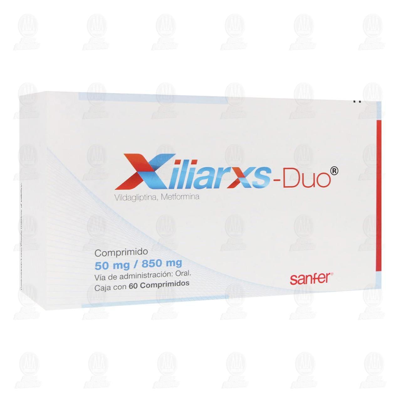 Comprar Xiliarxs Duo 50mg/850mg 60 Comprimidos en Farmacias Guadalajara