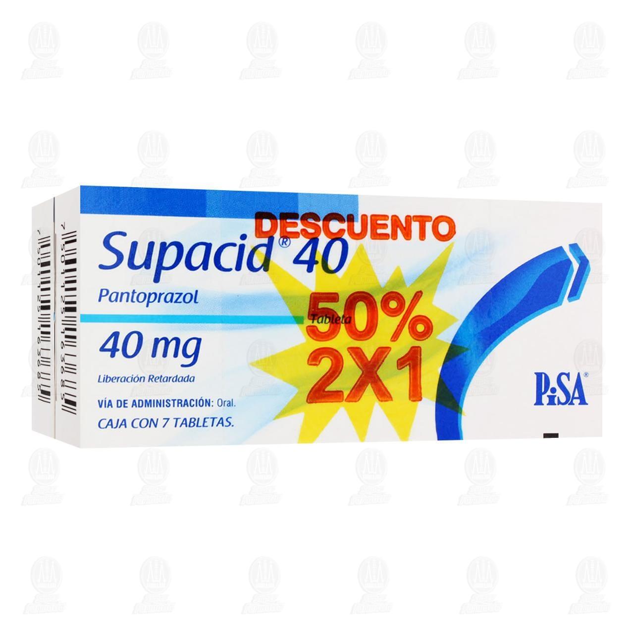 Comprar Supacid 40 40mg 7 Tabletas 2x1 en Farmacias Guadalajara