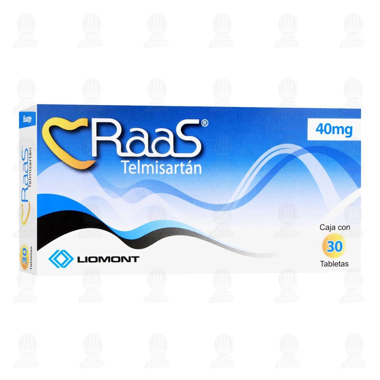 Comprar Raas 40mg 30 Tabletas en Farmacias Guadalajara