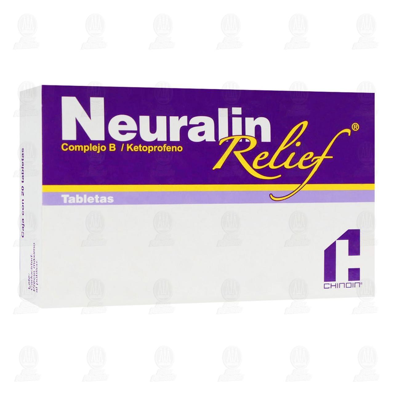 Comprar Neuralin Relief 20 Tabletas en Farmacias Guadalajara