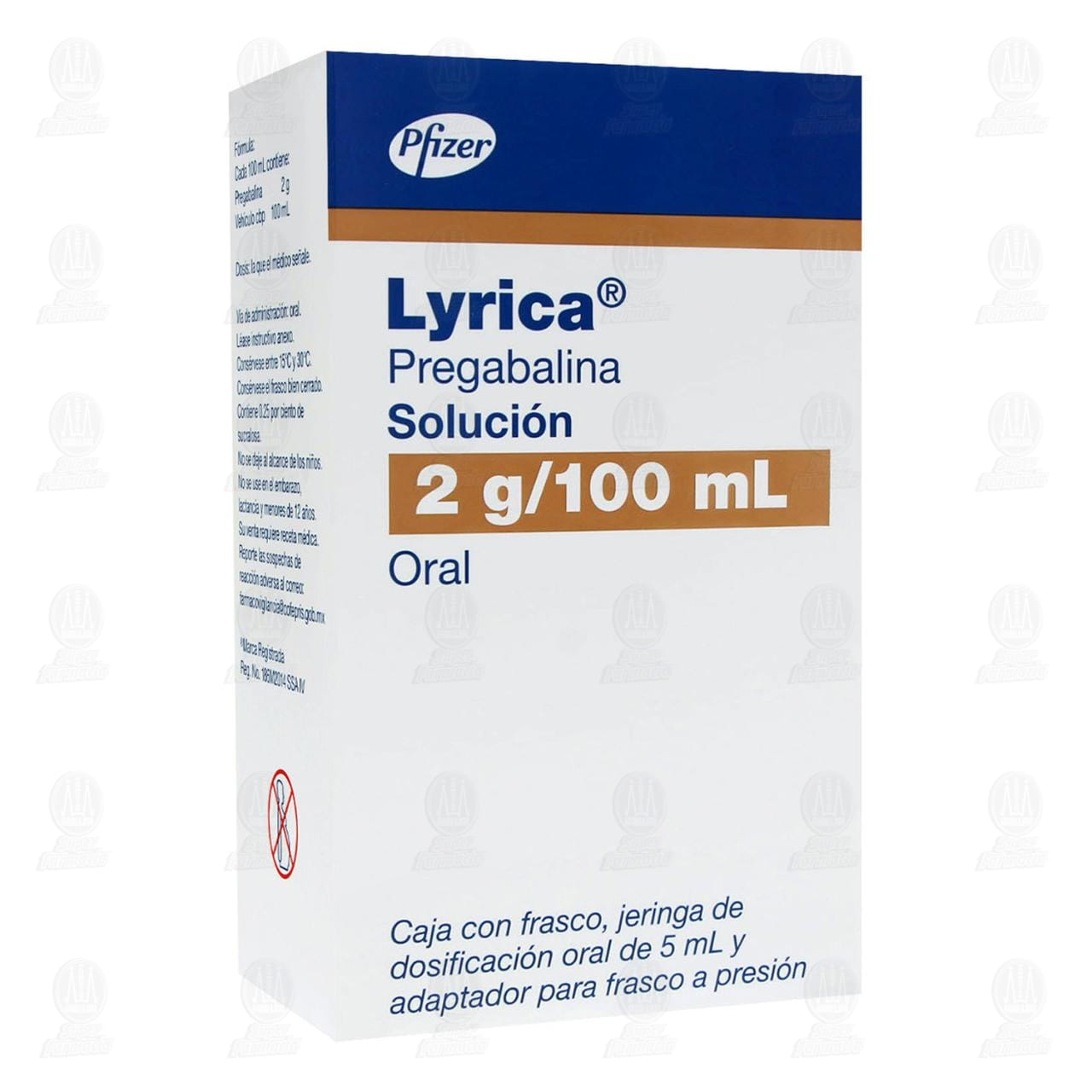 Comprar Lyrica 2gr/100ml Jeringa Dosificadora 5ml en Farmacias Guadalajara
