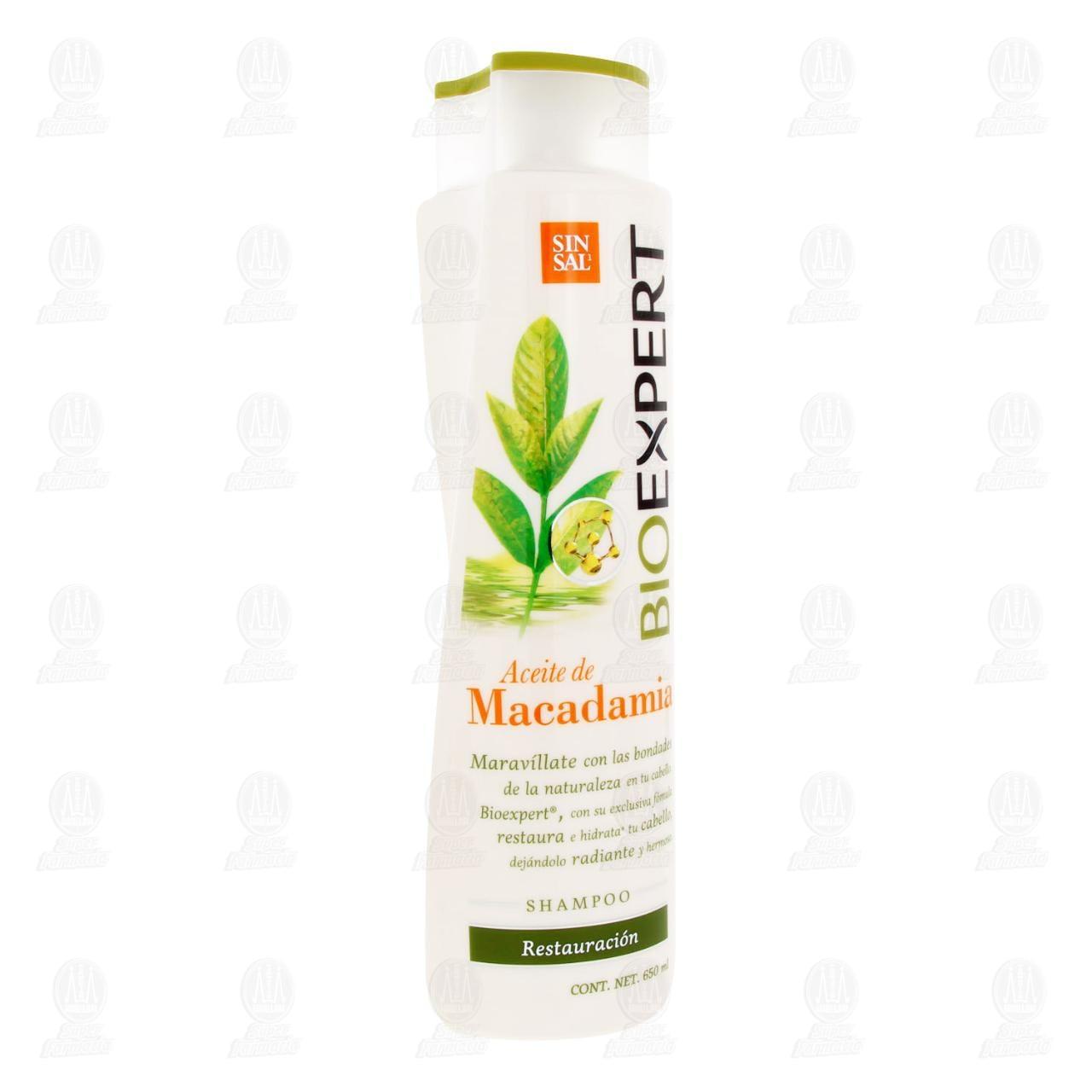 Comprar Shampoo BioExpert Restauración con Aceite de Macadamia, 650 ml. en Farmacias Guadalajara