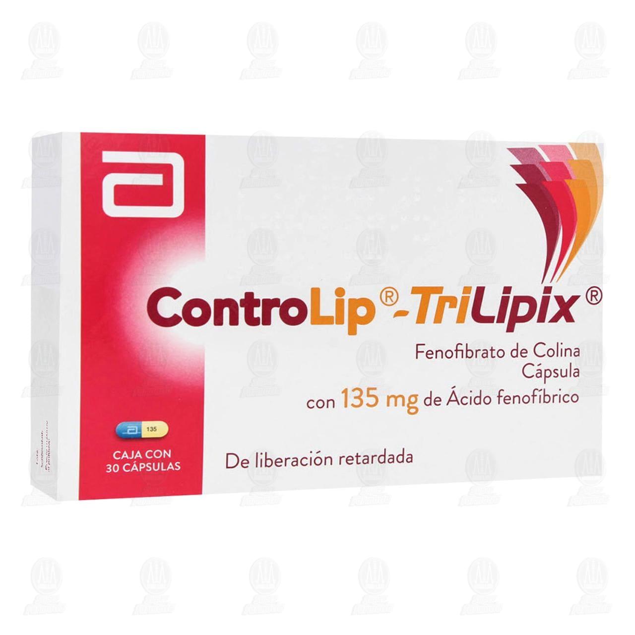 Comprar Controlip-Trilipix 135mg 30 Cápsulas en Farmacias Guadalajara