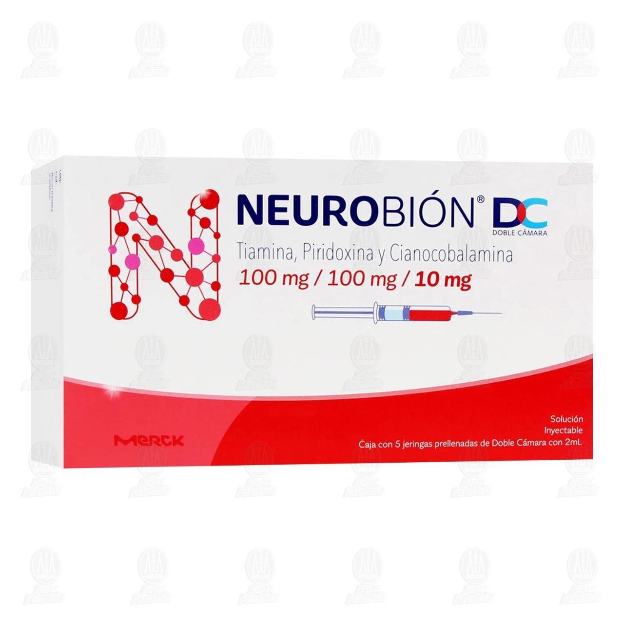 Comprar Neurobión 100mg/100mg/10mg con 5 Jeringas Doble Cámara en Farmacias Guadalajara