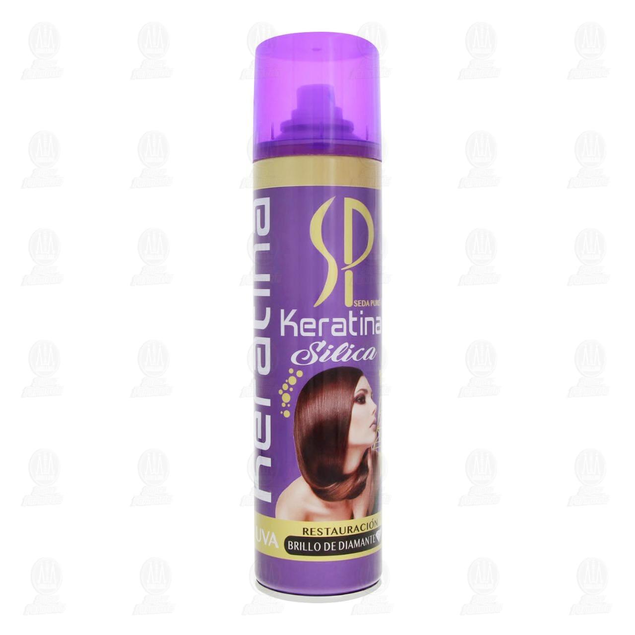 Comprar Silica Profesional Seda Pure Uva en Spray con Keratina, 300 ml. en Farmacias Guadalajara