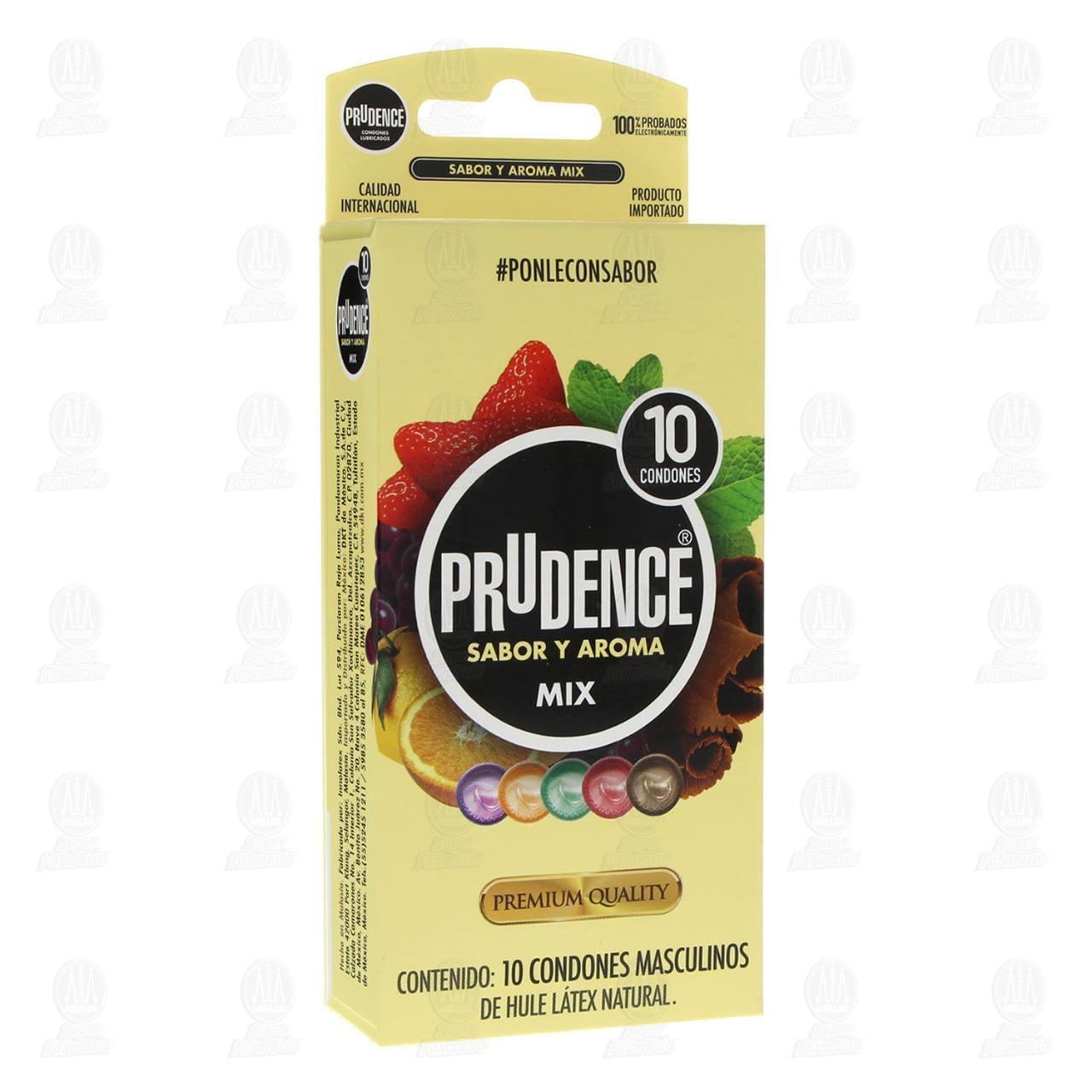 Comprar Prudence Mix Sabor y Aroma Condones 10pzas en Farmacias Guadalajara