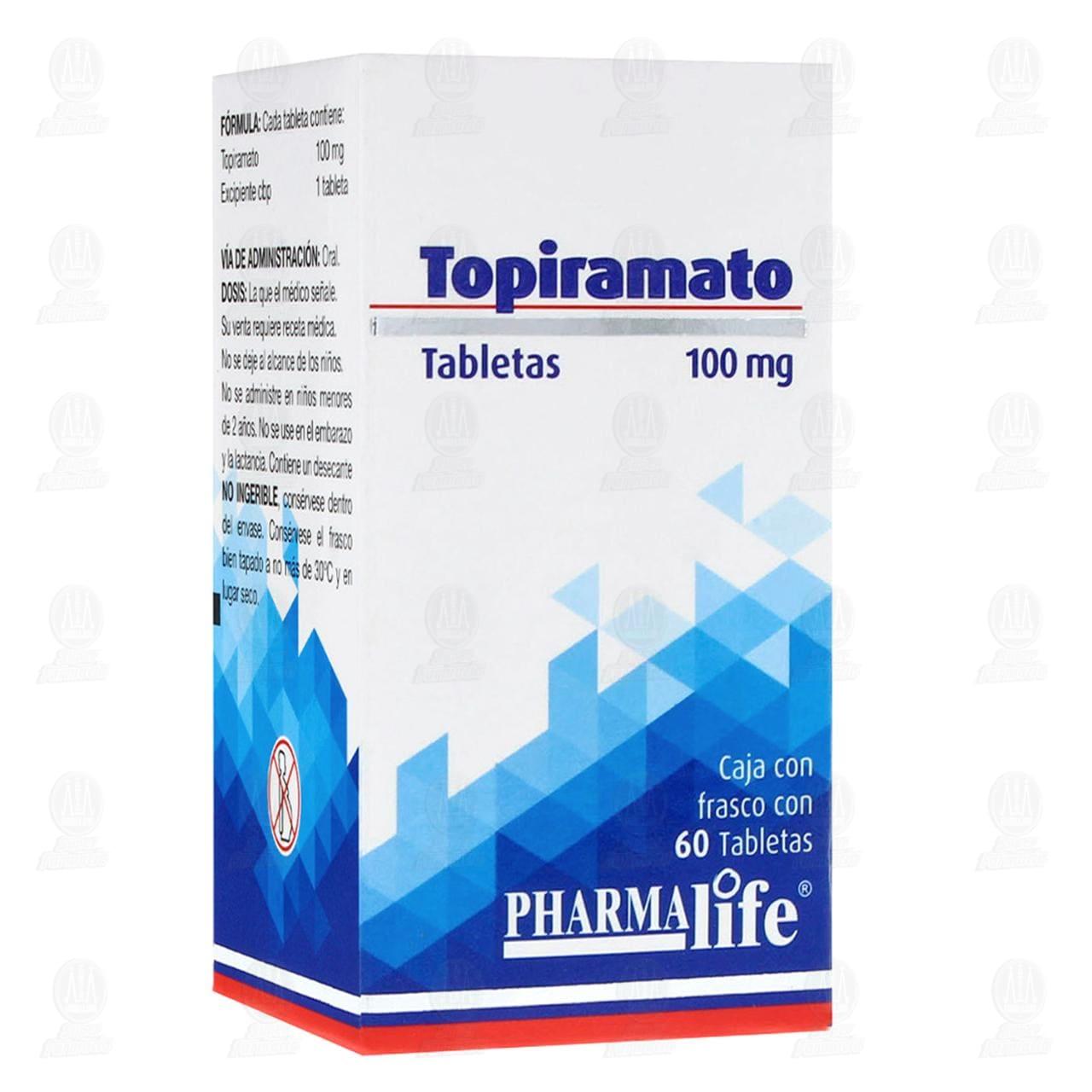 Comprar Topiramato 100mg 60 Tabletas Pharmalife en Farmacias Guadalajara