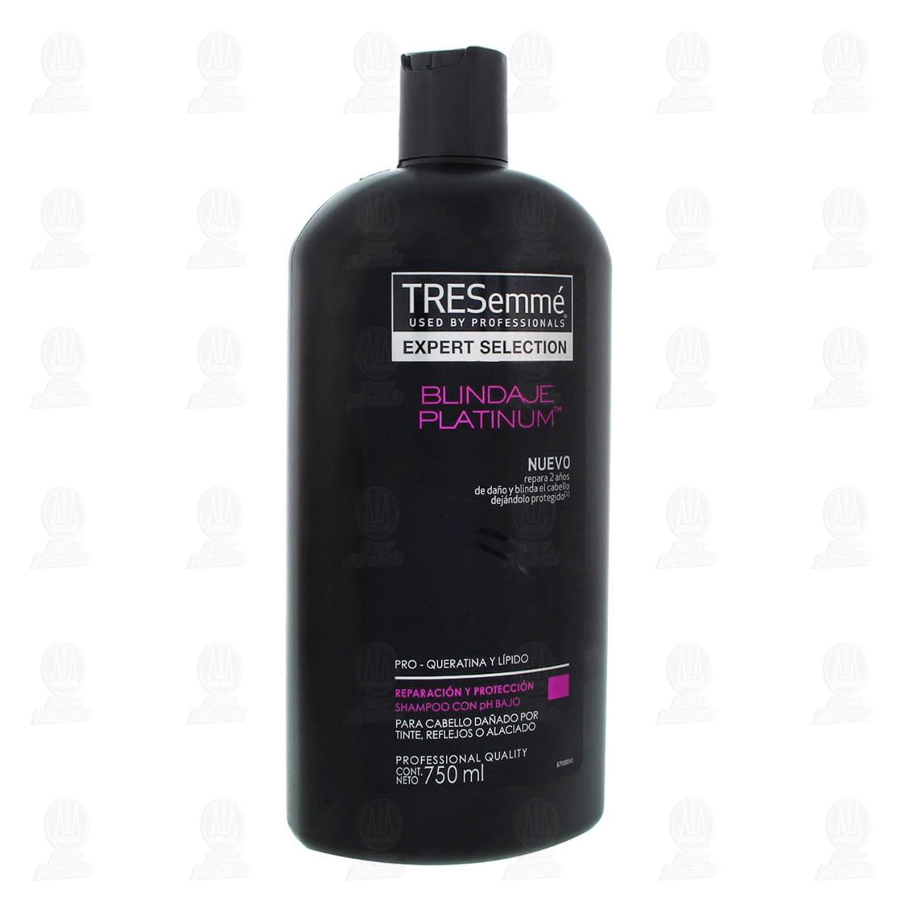 Comprar Shampoo Tresemmé Blindaje Platinum Pro-Queratina y Lípido, 750 ml. en Farmacias Guadalajara