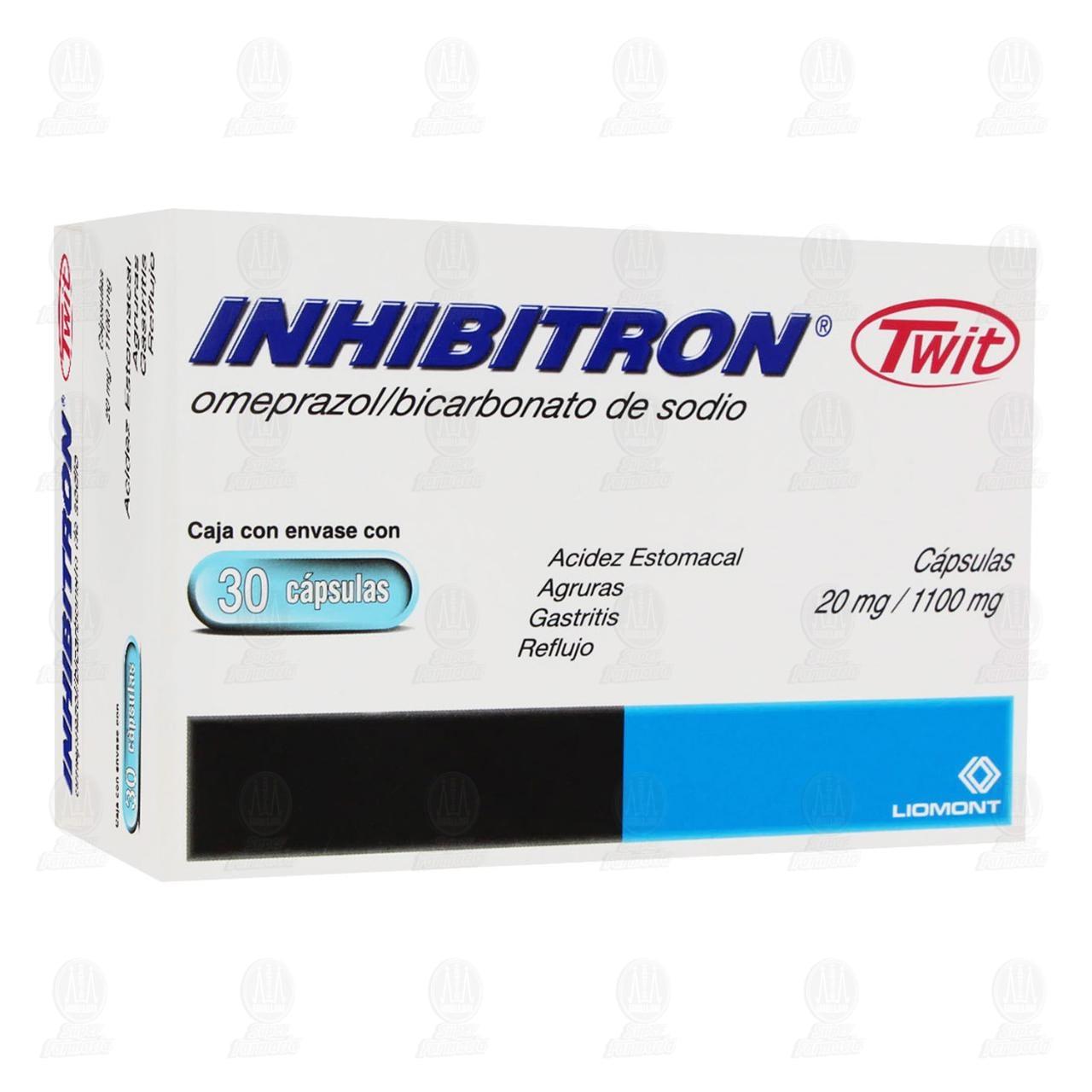 Comprar Inhibitron Twit 20mg/1100mg 30 Cápsulas en Farmacias Guadalajara