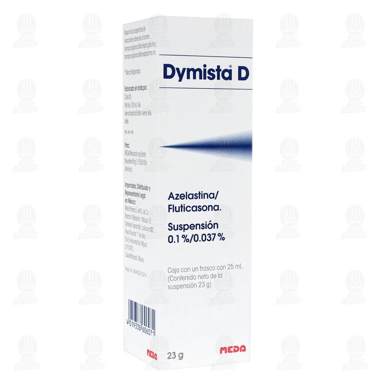 Comprar Dymista D 0.1/0.037% Suspensión 25ml en Farmacias Guadalajara