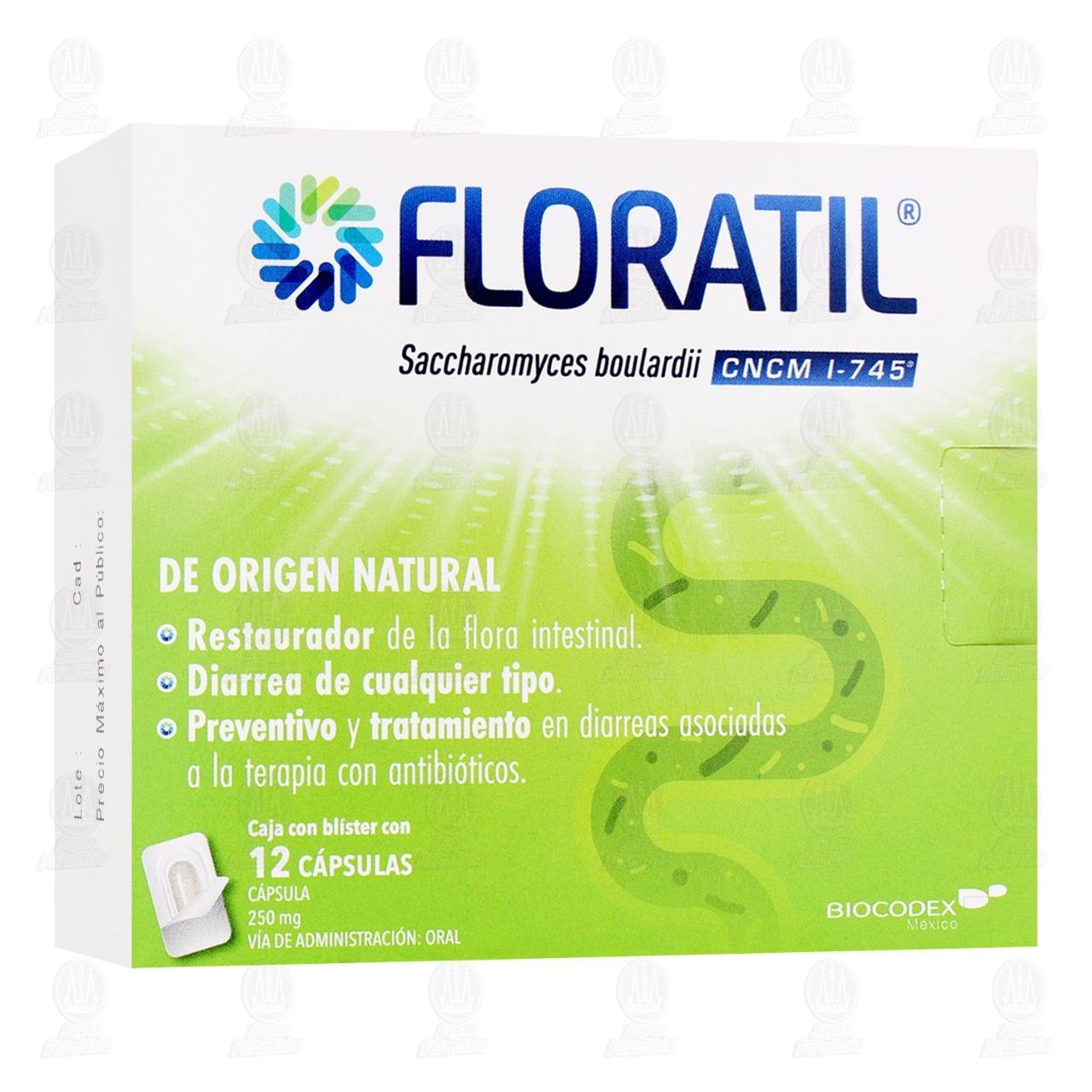 Comprar Floratil 250mg 12 Cápsulas en Farmacias Guadalajara