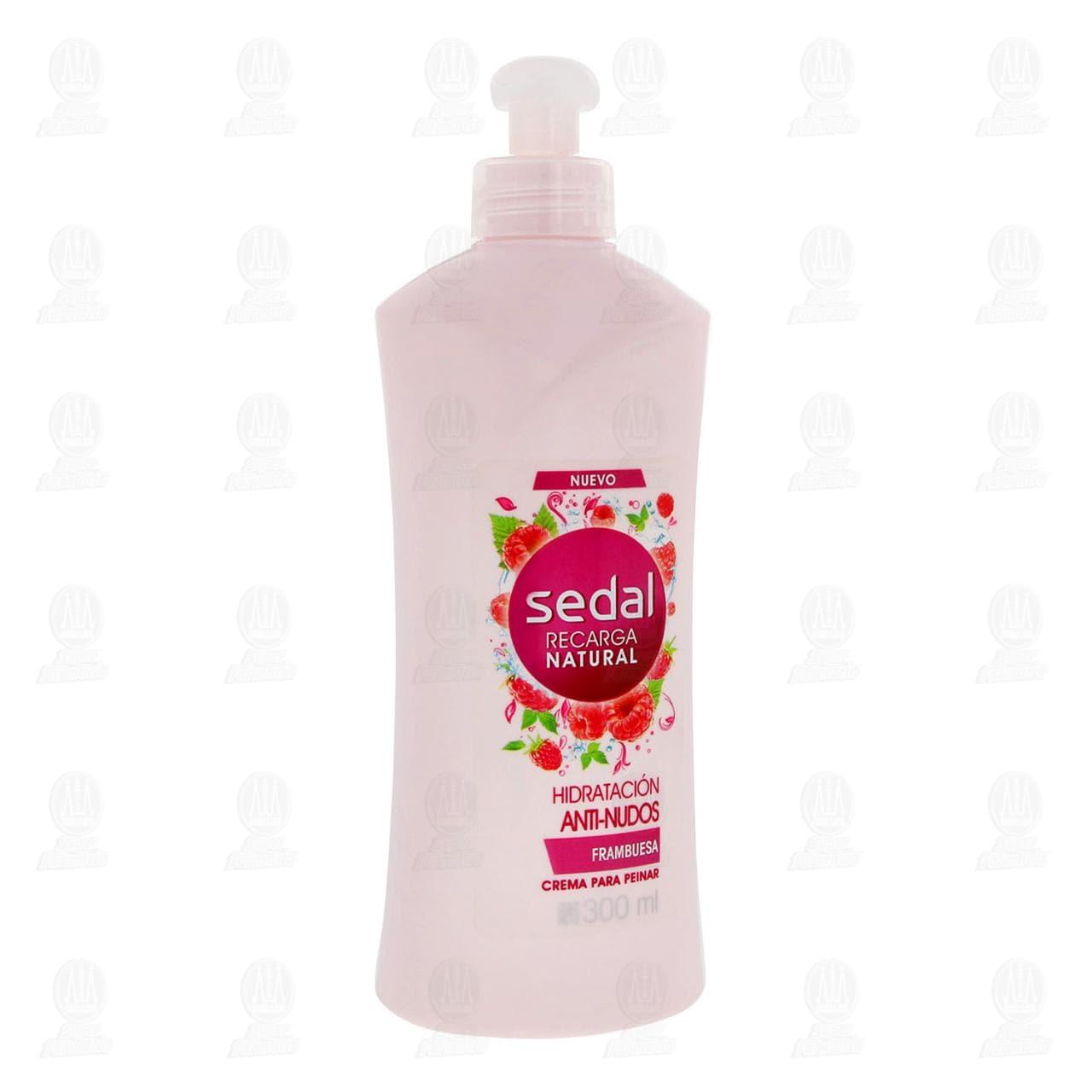Comprar Crema para Peinar Sedal Recarga Natural Hidratación Anti-Nudos, 300 ml. en Farmacias Guadalajara