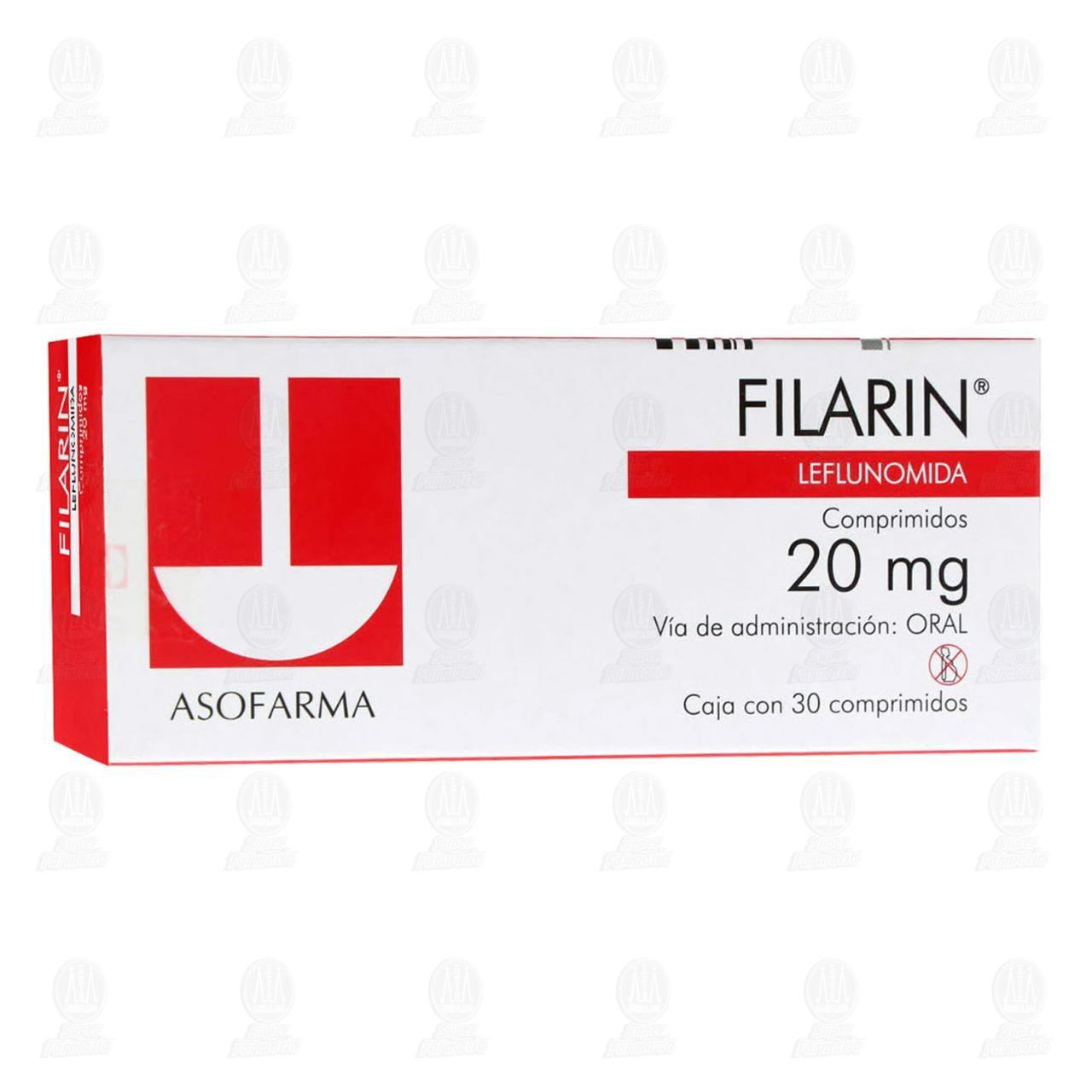 Comprar Filarin 20mg 30 Comprimidos en Farmacias Guadalajara