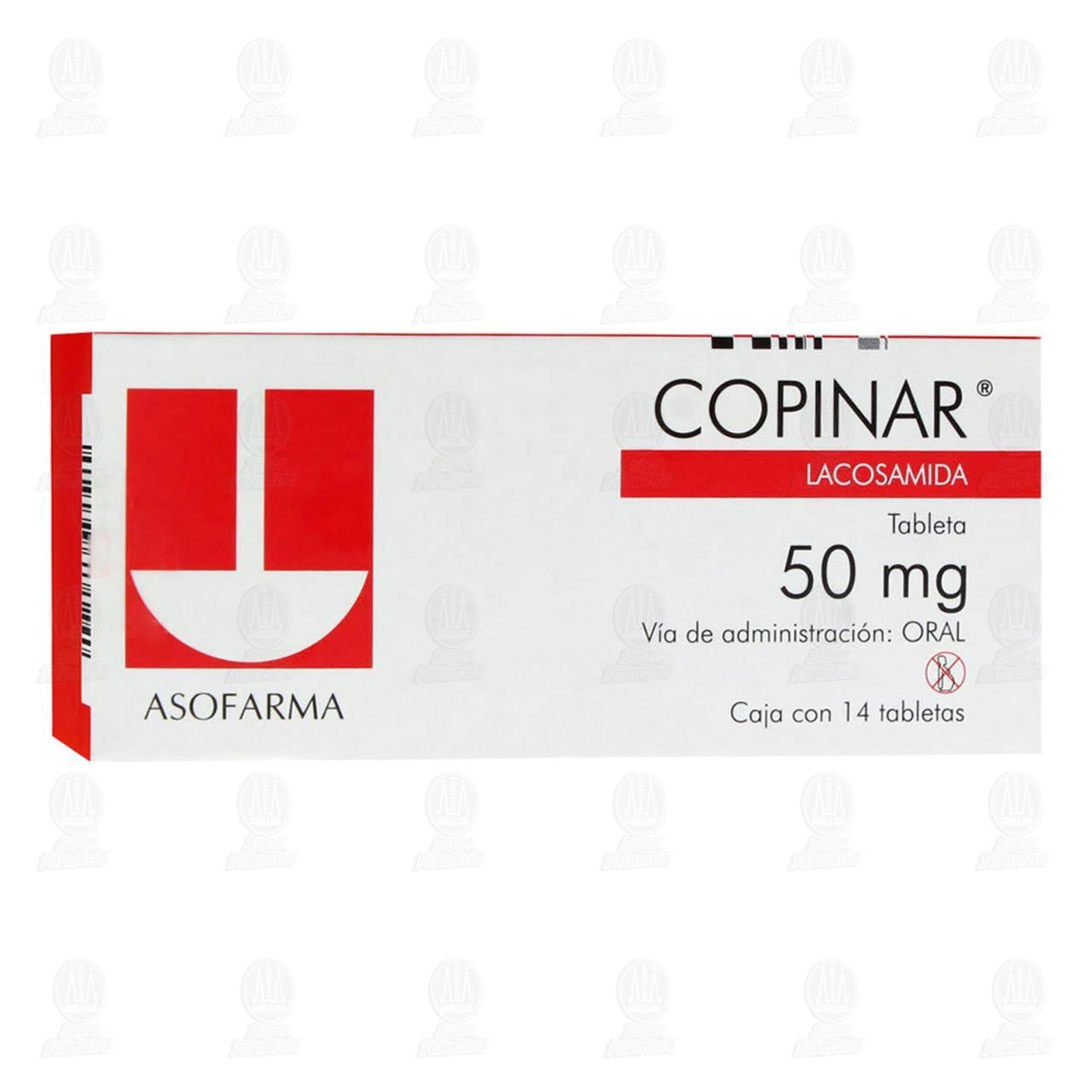 Comprar Copinar 50mg 14 Tabletas en Farmacias Guadalajara