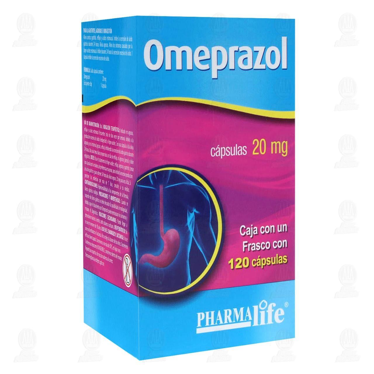Omeprazol 20mg 120 Cápsulas Pharmalife