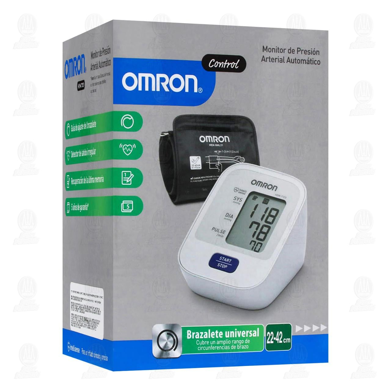 Comprar Monitor Omron Presión Arterial Automático Brazo en Farmacias Guadalajara