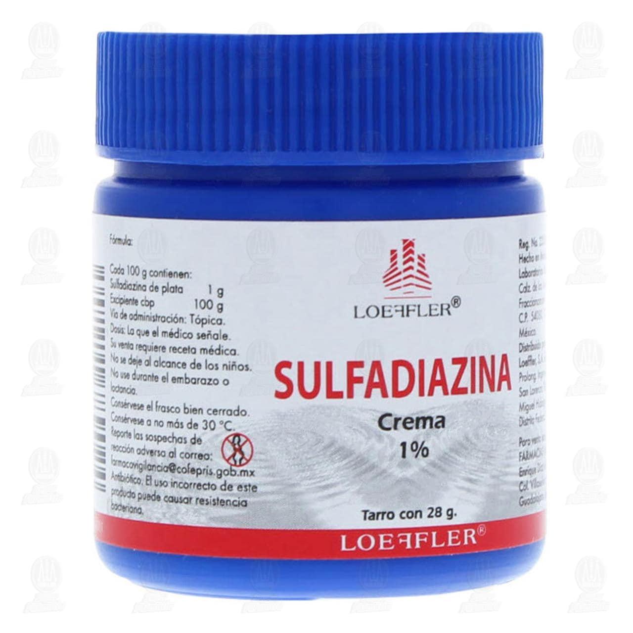 Comprar Sulfadiazina 28gr Crema Tarro en Farmacias Guadalajara
