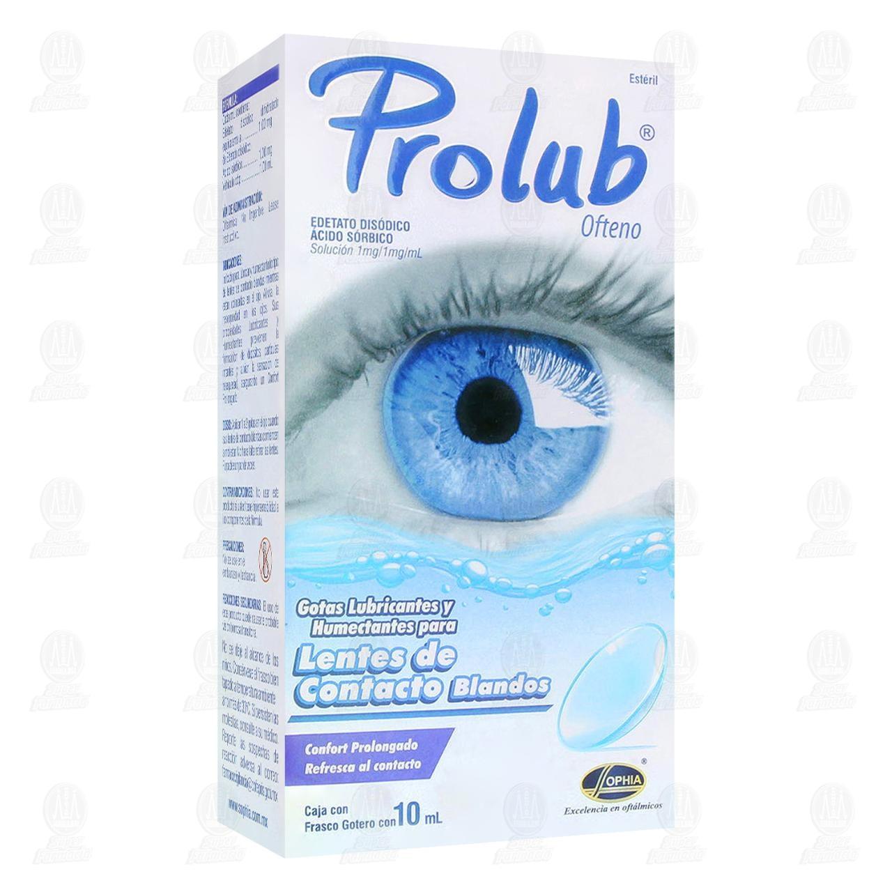 Comprar Prolub Ofteno 1mg/1mg/ml 10ml Gotas Lubricantes para Lentes de Contacto Blandos en Farmacias Guadalajara