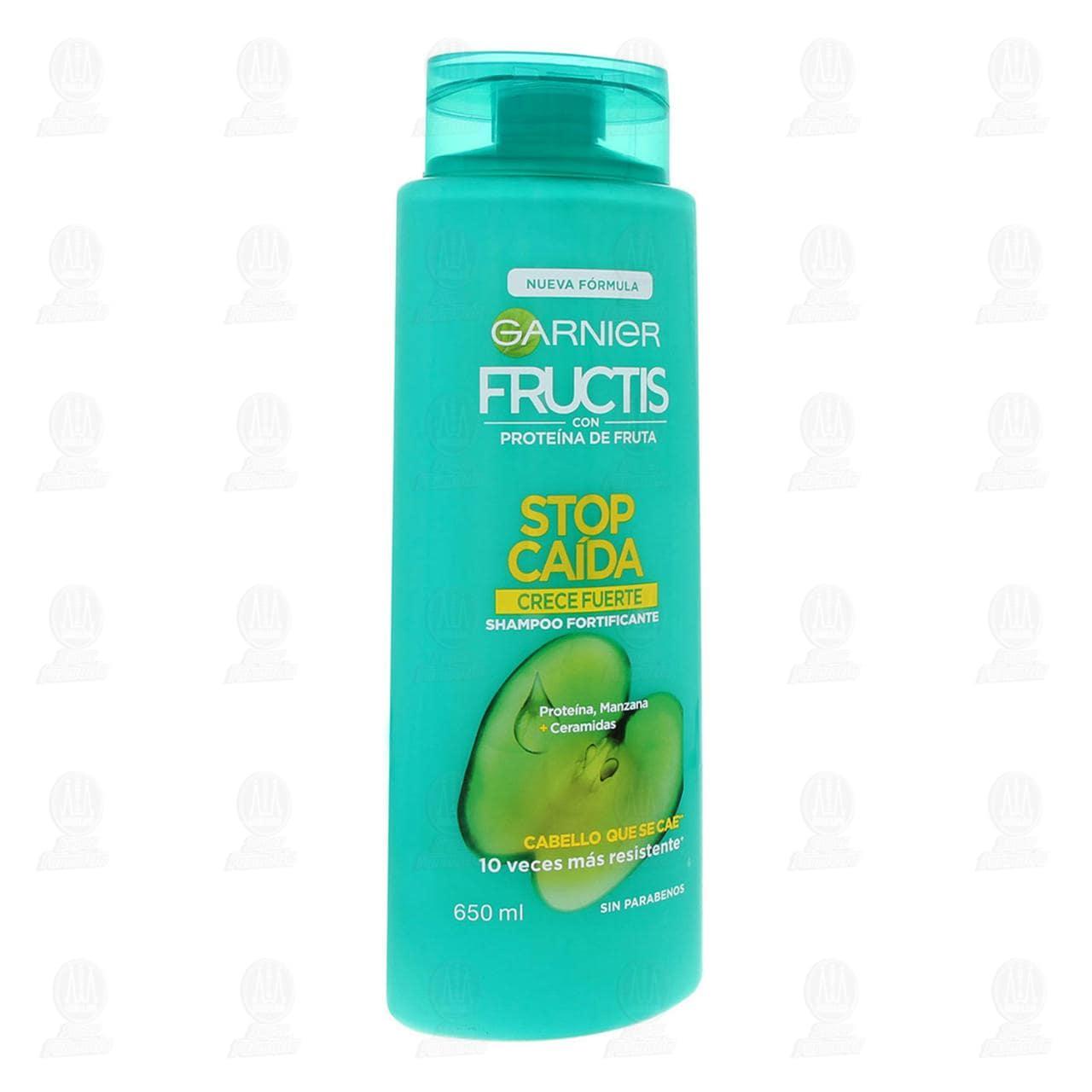 Comprar Shampoo Garnier Fructis Stop Caída Crece Fuerte, 650 ml. en Farmacias Guadalajara