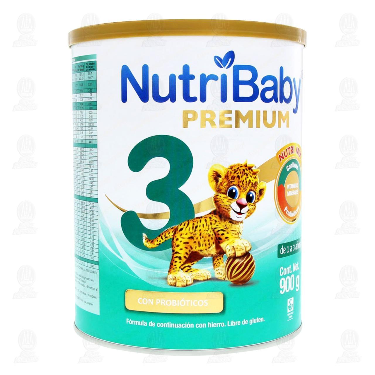 Comprar Fórmula Infantil NutriBaby Premium 3 en Polvo (Edad 1-3 Años), 900 gr. en Farmacias Guadalajara