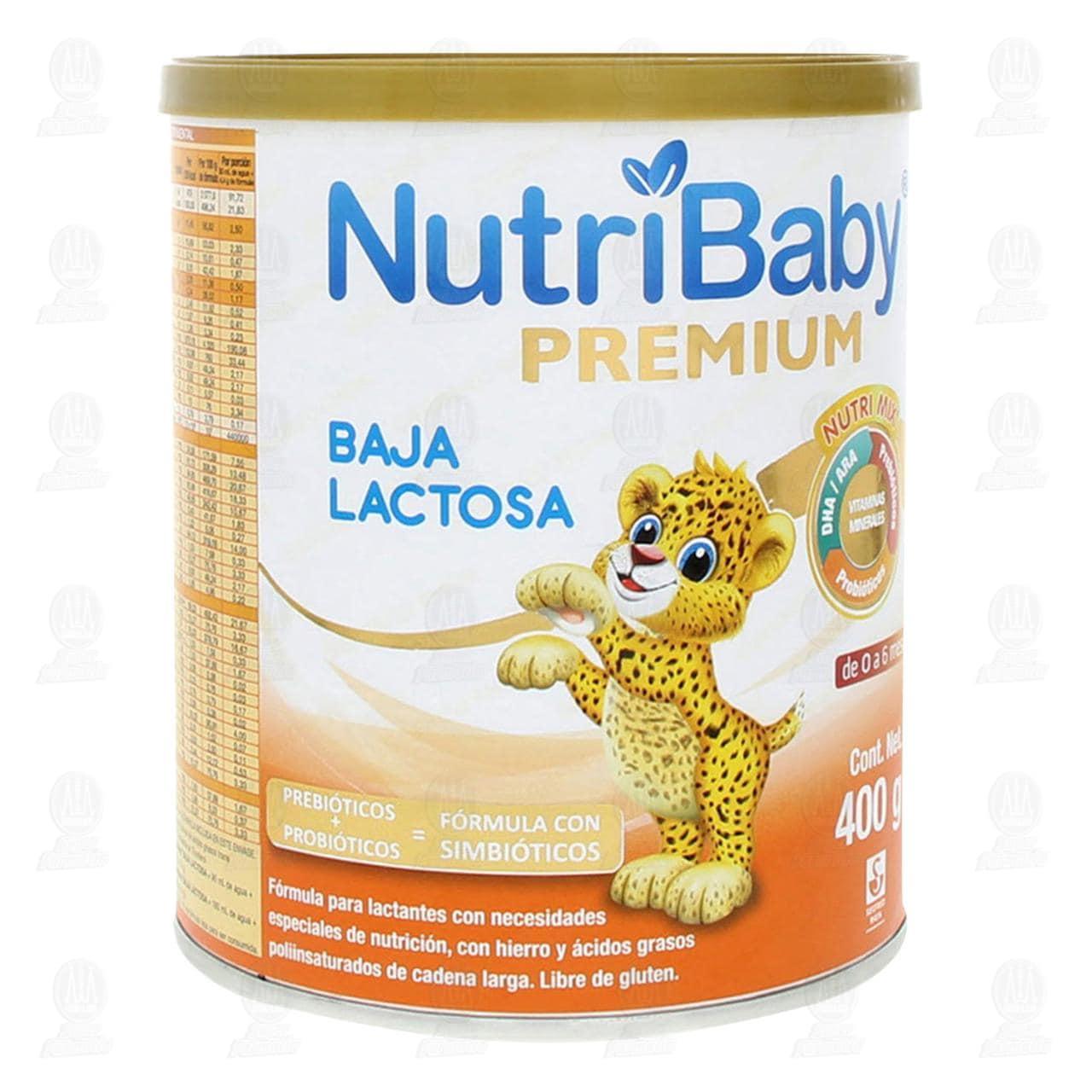 Comprar Fórmula Infantil Nutribaby Premium Baja Lactosa (Edad 0-6 Meses), 400 gr. en Farmacias Guadalajara