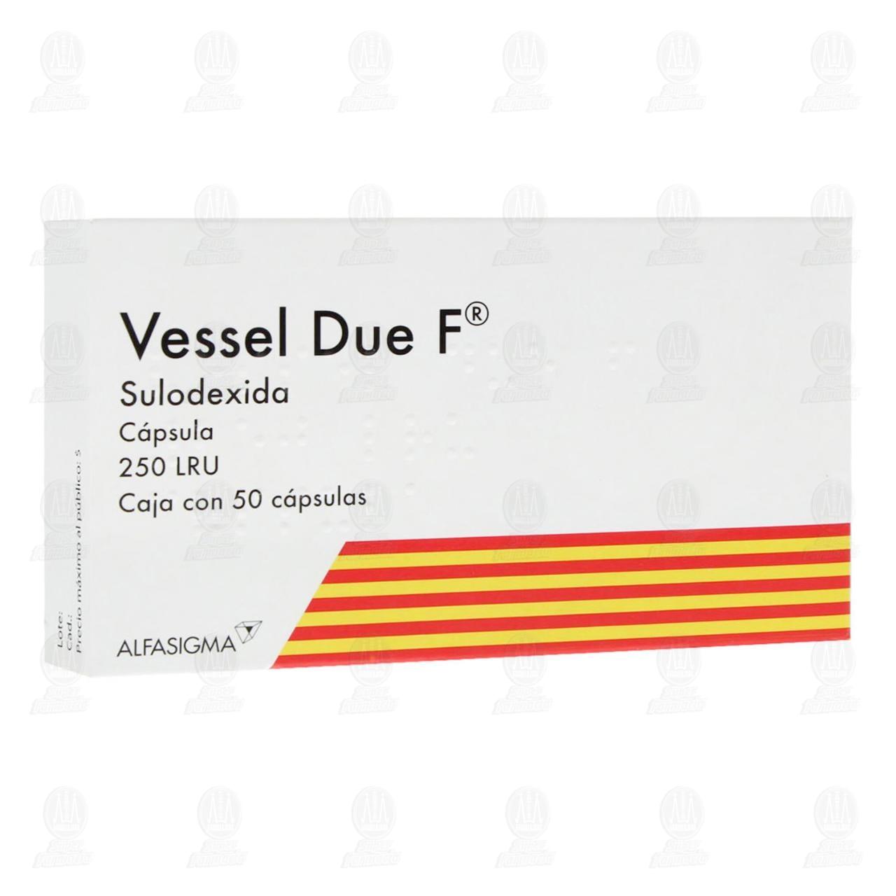 Comprar Vessel Due F 250LRU 50 Cápsulas en Farmacias Guadalajara