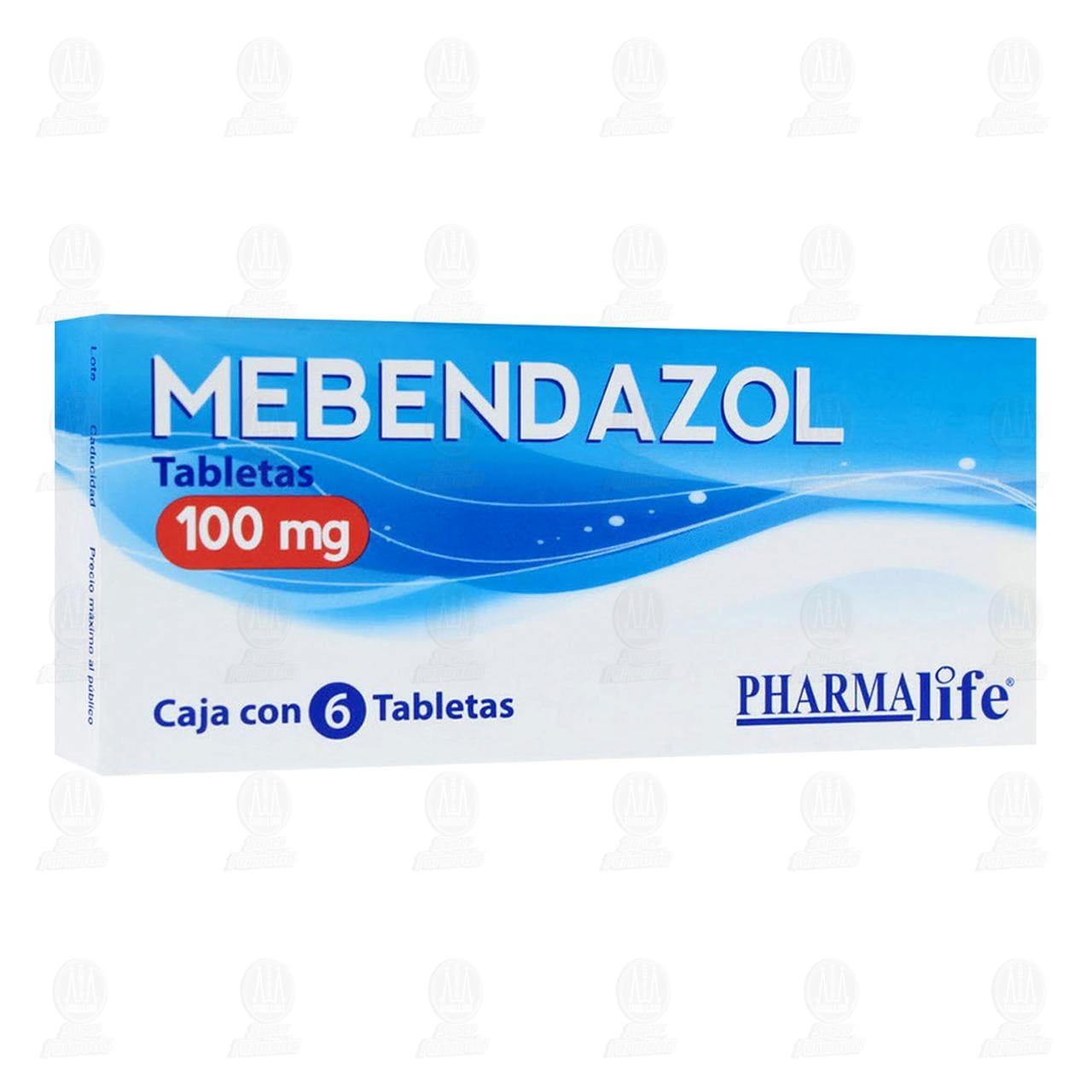 Comprar Mebendazol 100mg 6 Tabletas Pharmalife en Farmacias Guadalajara