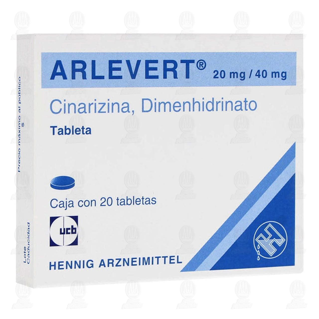 Arlevert 20mg/40mg 20 Tabletas