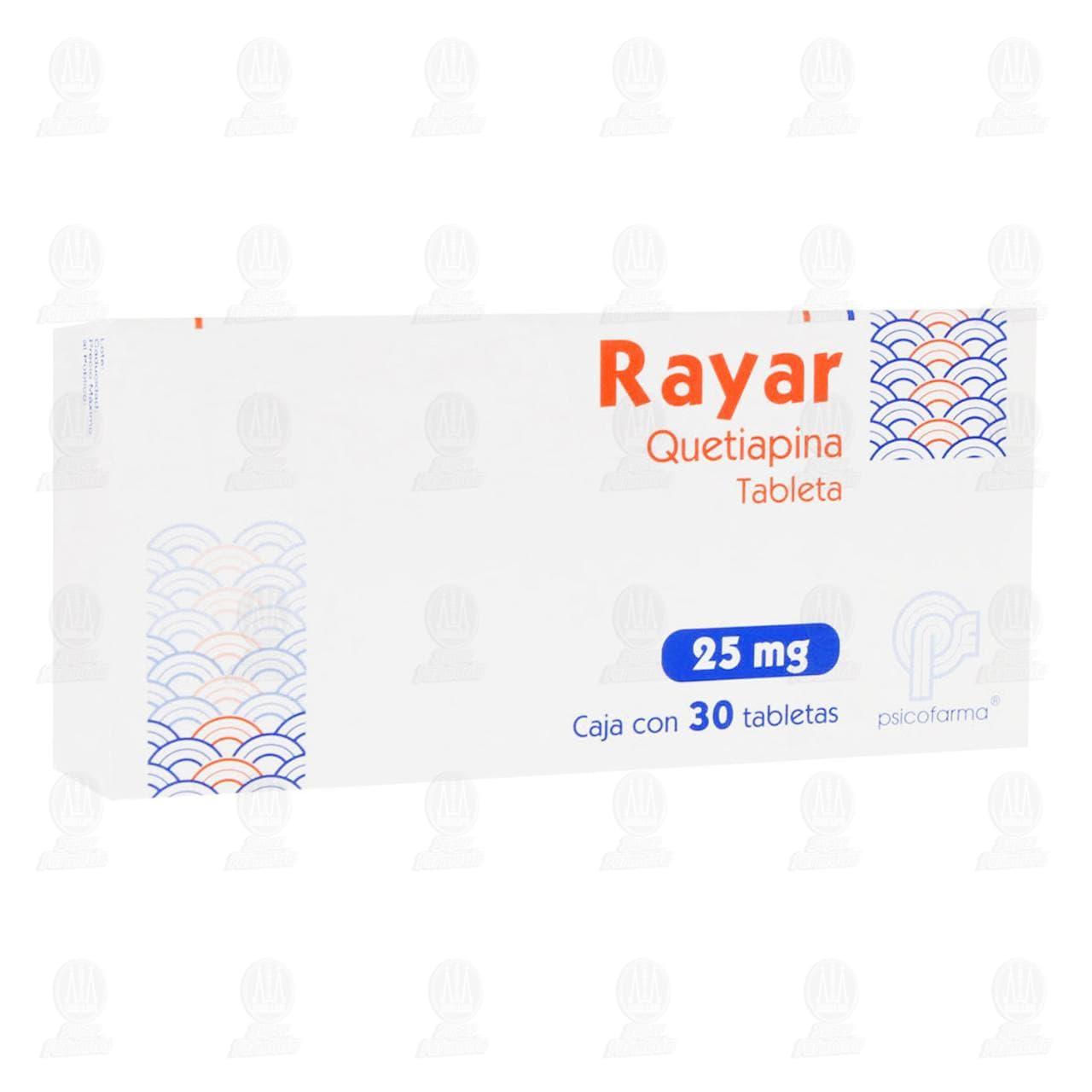 Comprar Rayar 25mg 30 Tabletas en Farmacias Guadalajara