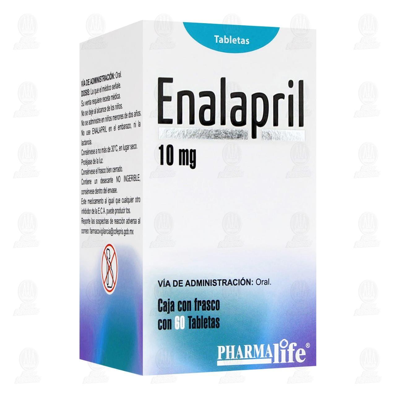 Enalapril 10mg 60 Tabletas Frasco Pharmalife