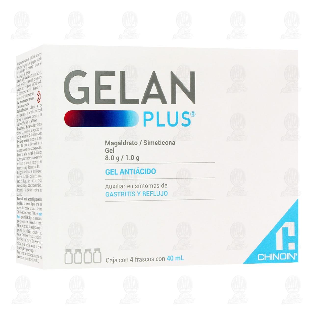 Comprar Gelan Plus Suspensión Gel 4 Frascos 40ml C/U en Farmacias Guadalajara