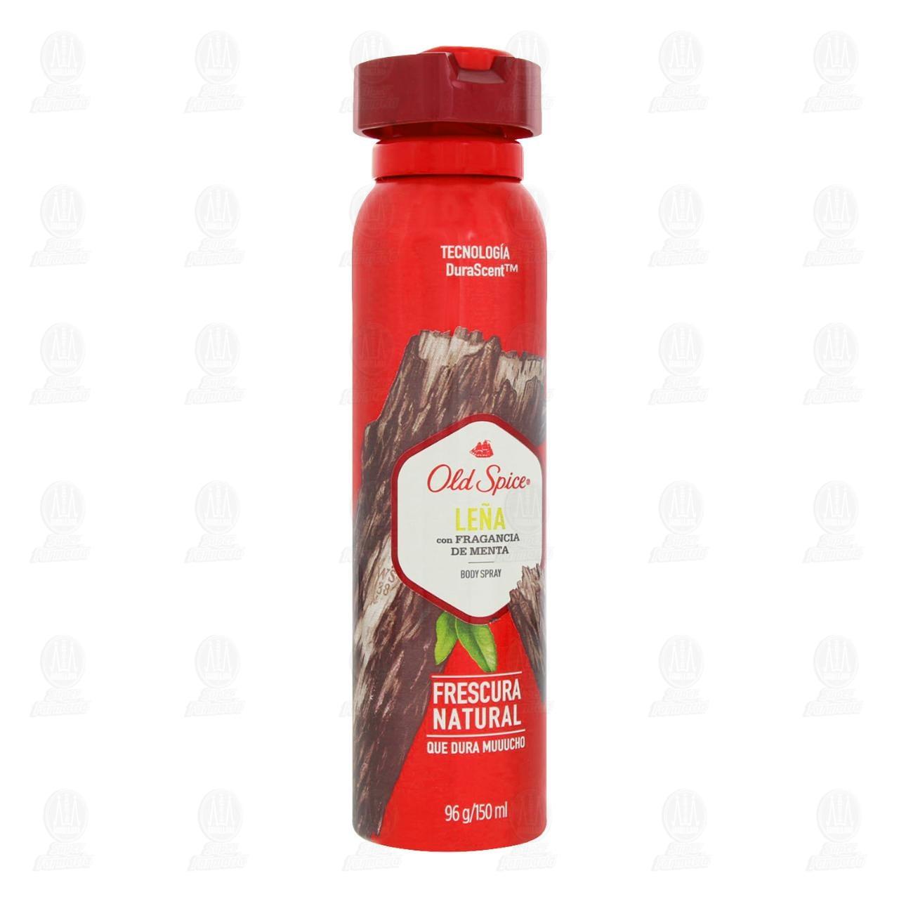 Comprar Desodorante en Spray Old Spice Leña con Fragancia de Menta, 150 ml. en Farmacias Guadalajara