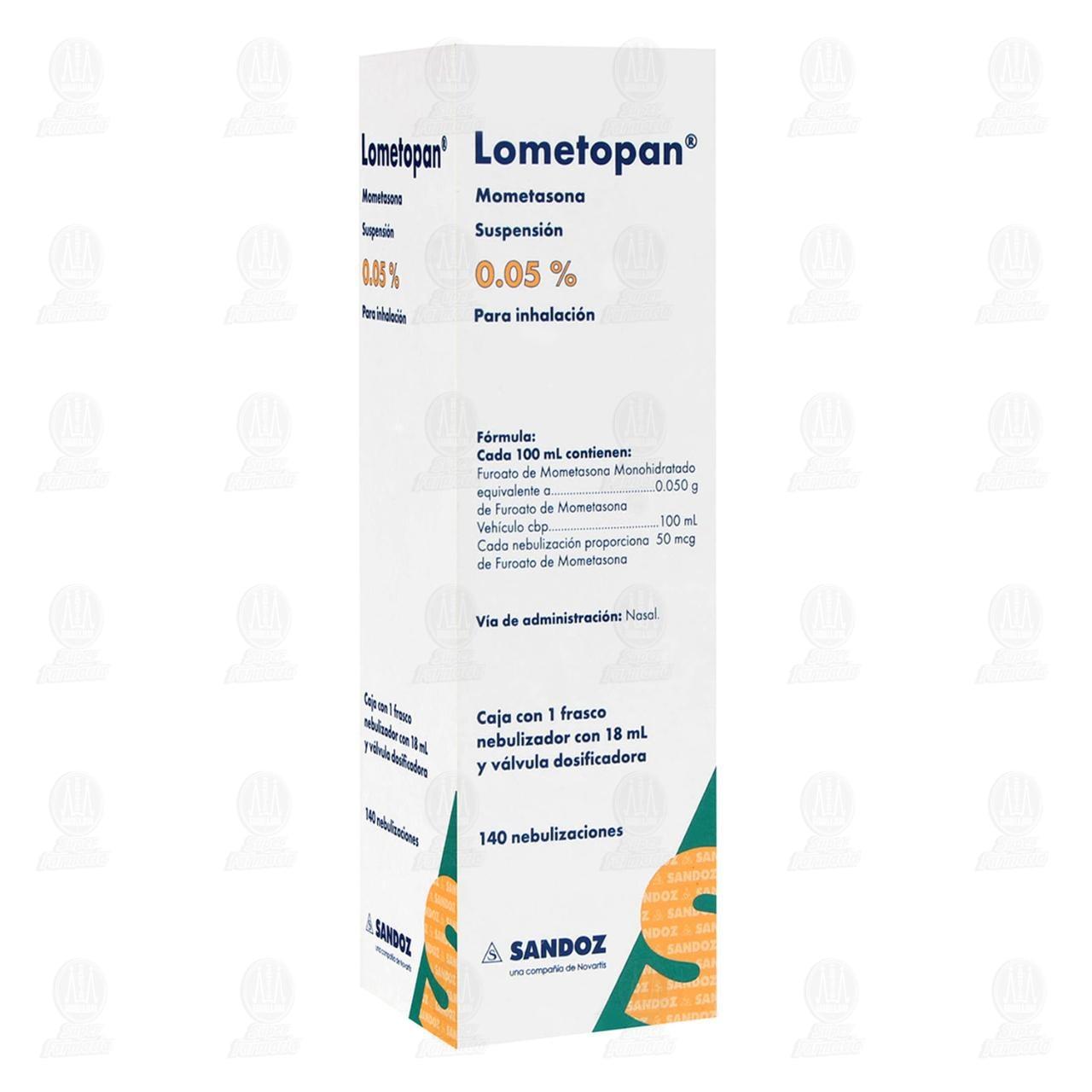 Comprar Lometopan 0.05% 18ml Suspensión 140 Nebulizaciones en Farmacias Guadalajara