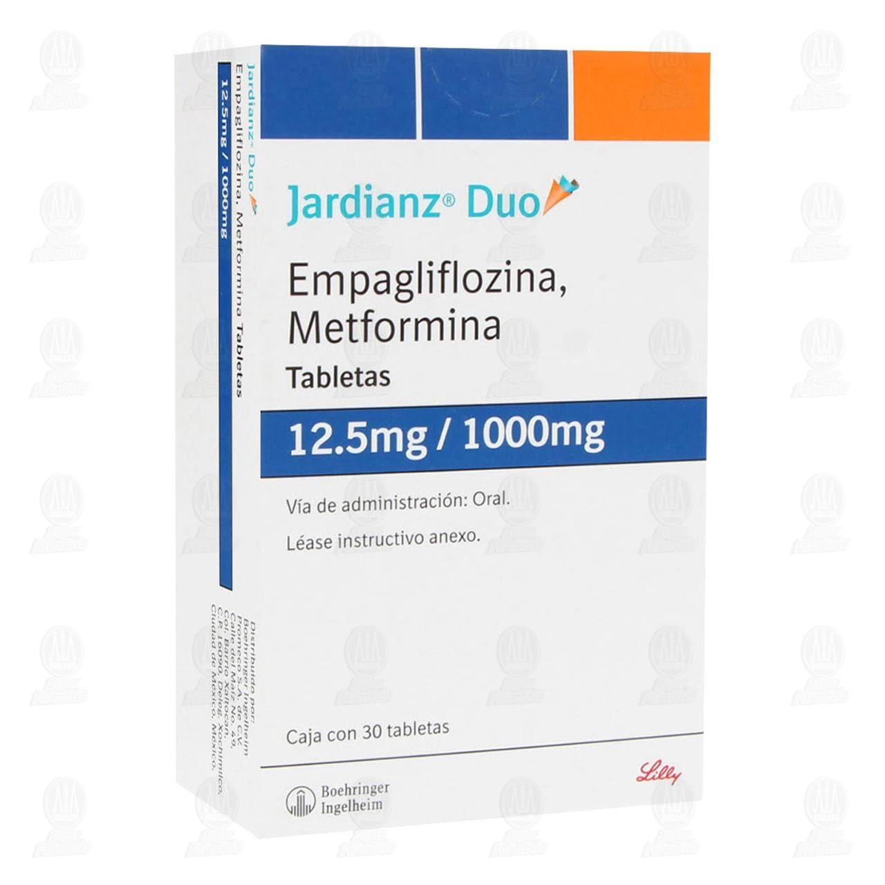 Comprar Jardianz Duo 12.5mg/1000mg 30 Tabletas en Farmacias Guadalajara