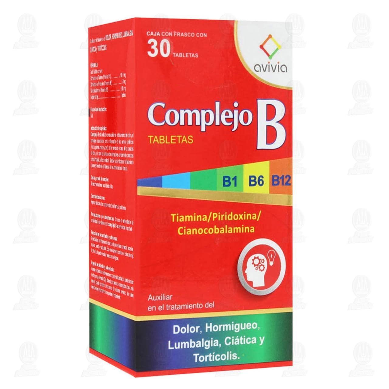 Comprar Complejo B 30 Tabletas en Farmacias Guadalajara