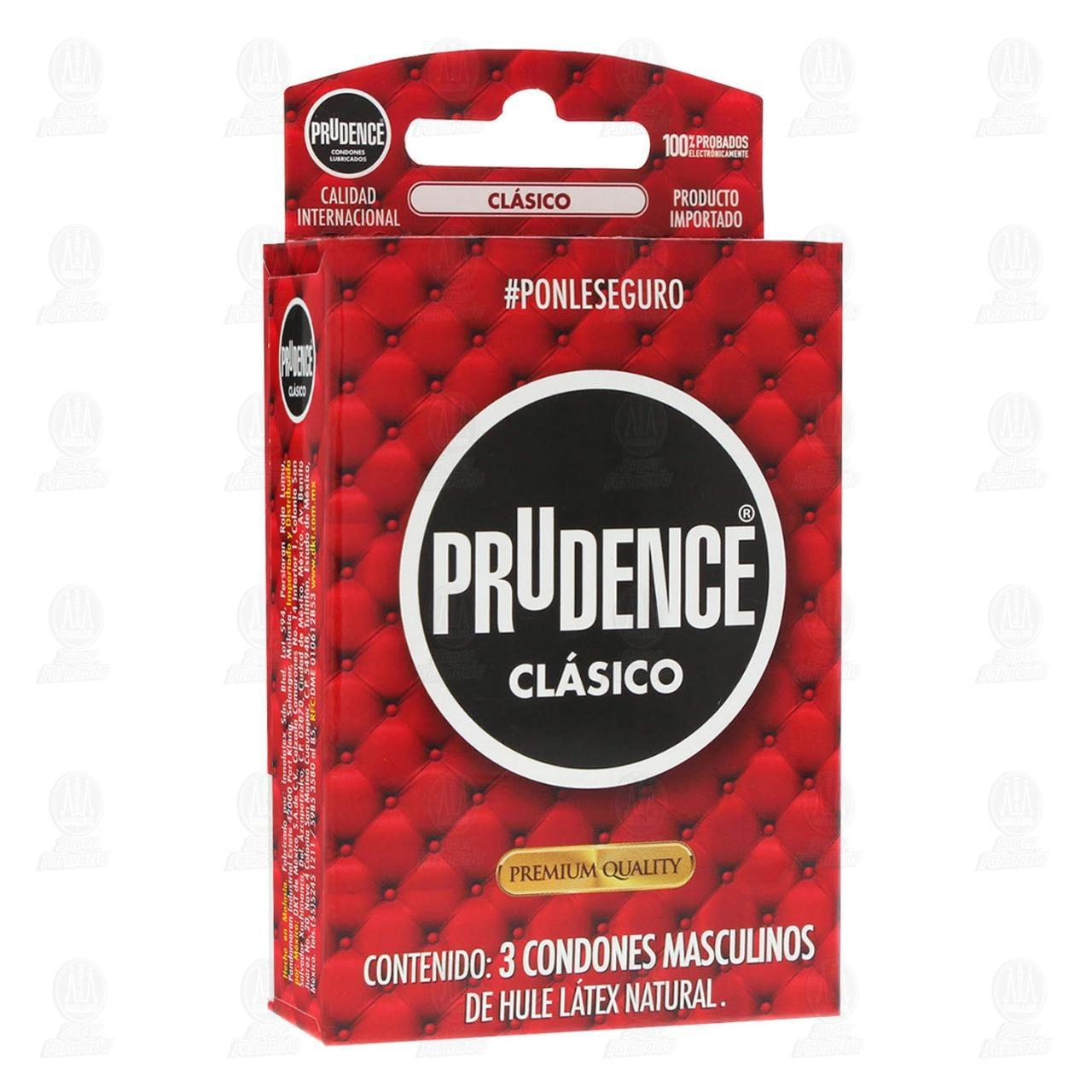 Comprar Prudence Clásico Condón 3pzas en Farmacias Guadalajara