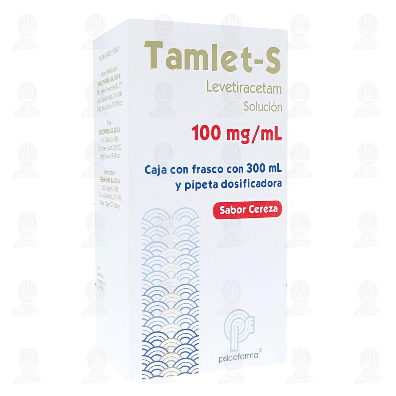 Comprar Tamlet-S 100mg/ml 300ml Solución Sabor Cereza en Farmacias Guadalajara